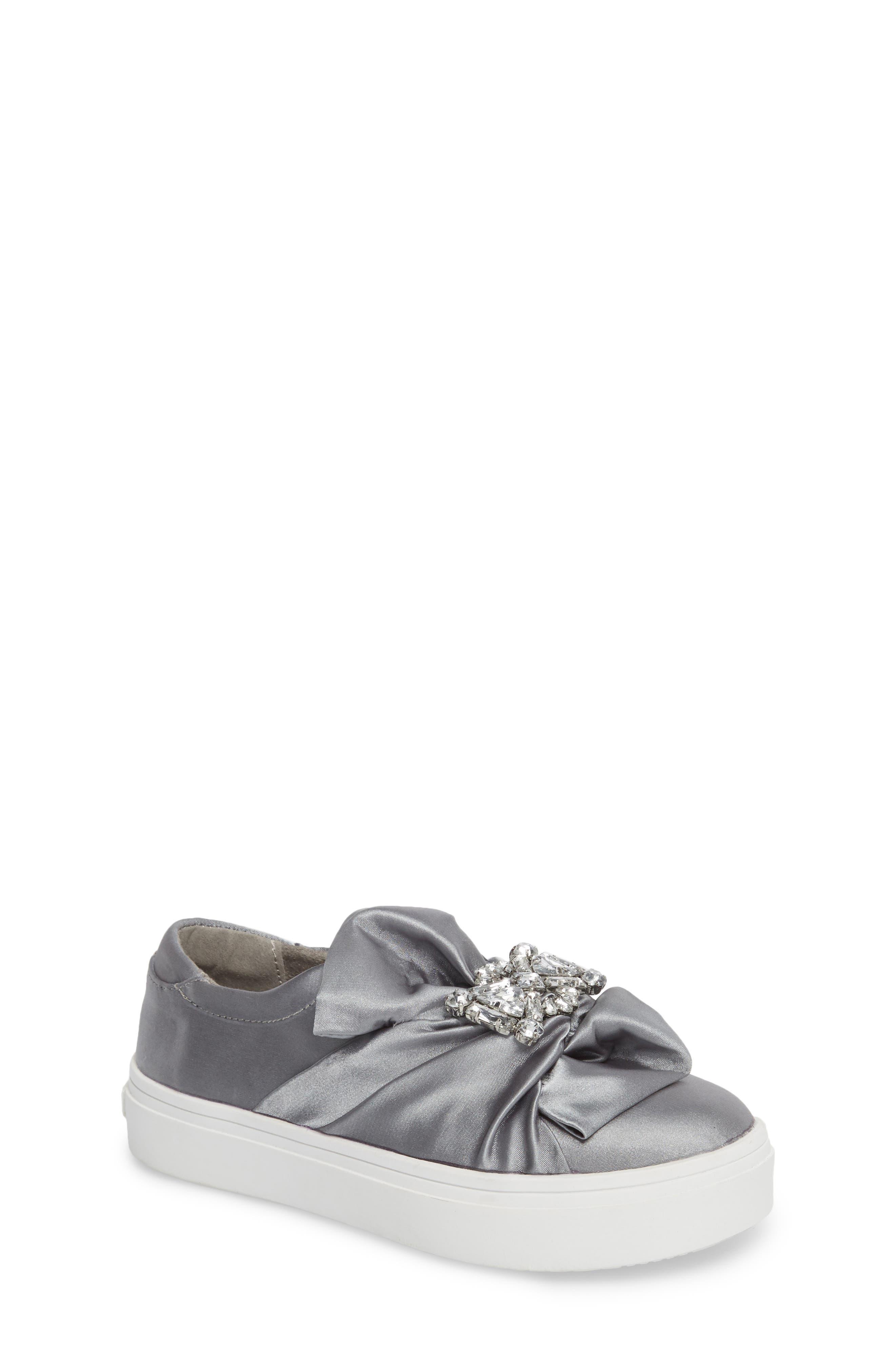 Shout Shine Embellished Sneaker,                             Main thumbnail 1, color,                             Gray
