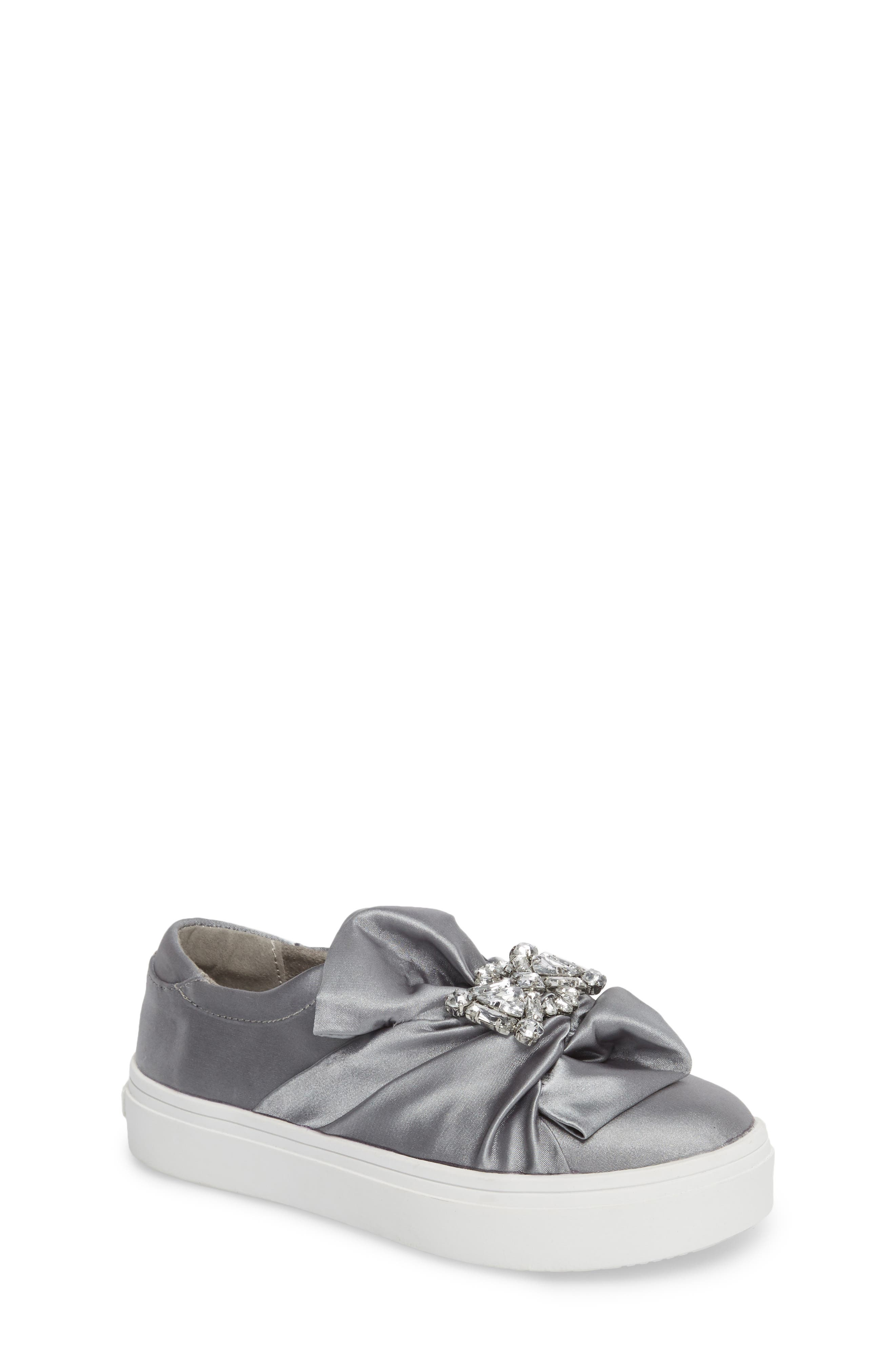 Shout Shine Embellished Sneaker,                         Main,                         color, Gray