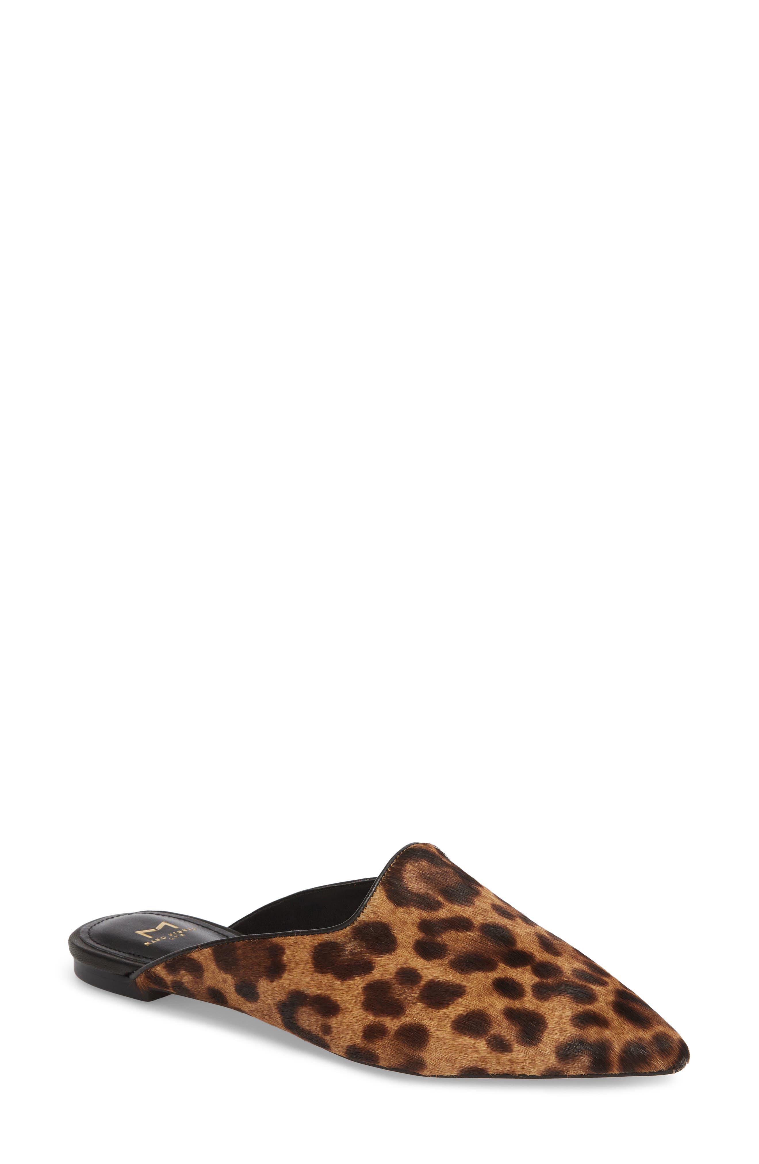 Sheenly Genuine Calf Hair Mule,                             Main thumbnail 1, color,                             Leopard Hair Calf
