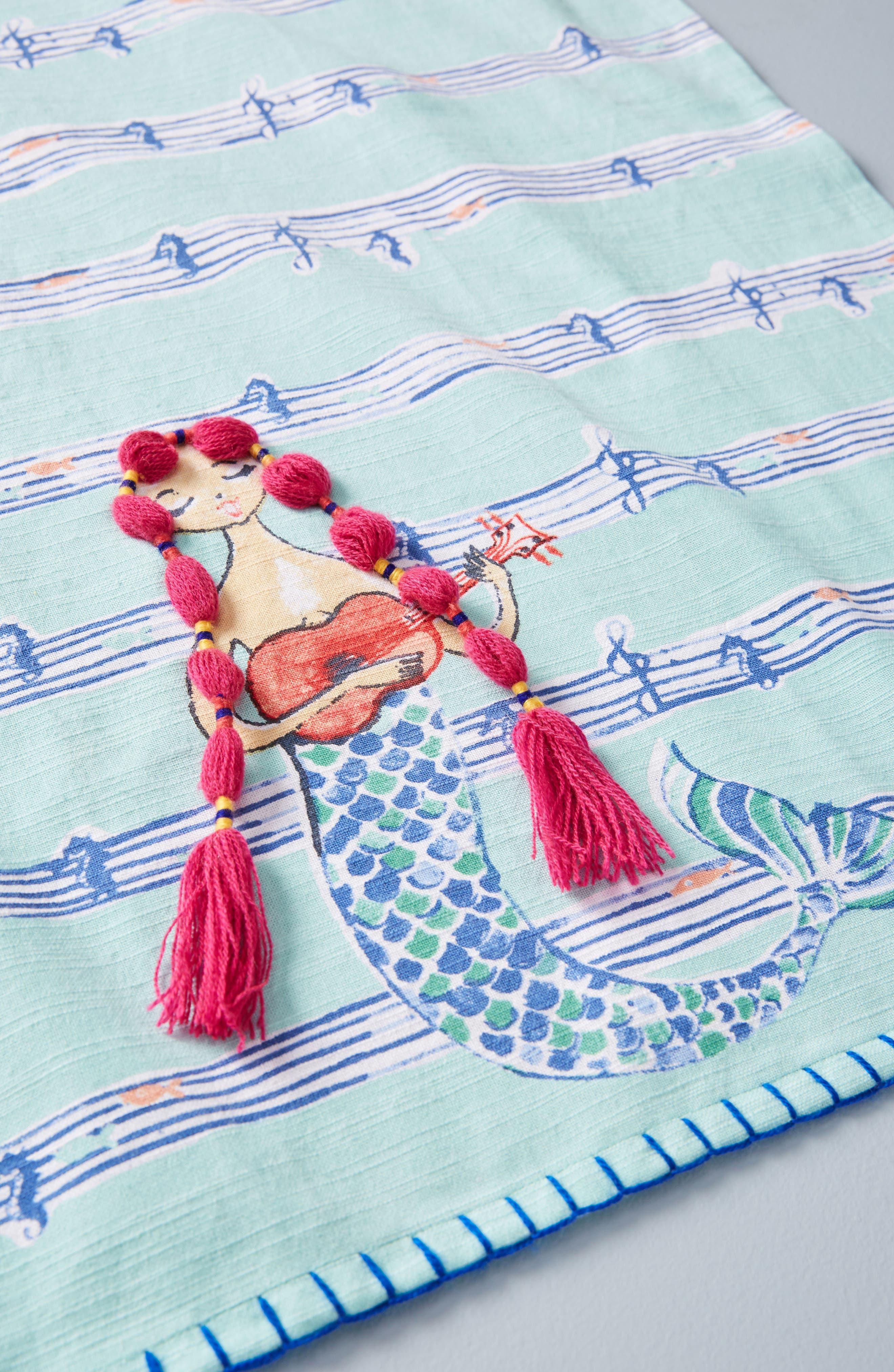 Mermaid Dishtowel,                             Alternate thumbnail 2, color,                             Turquoise