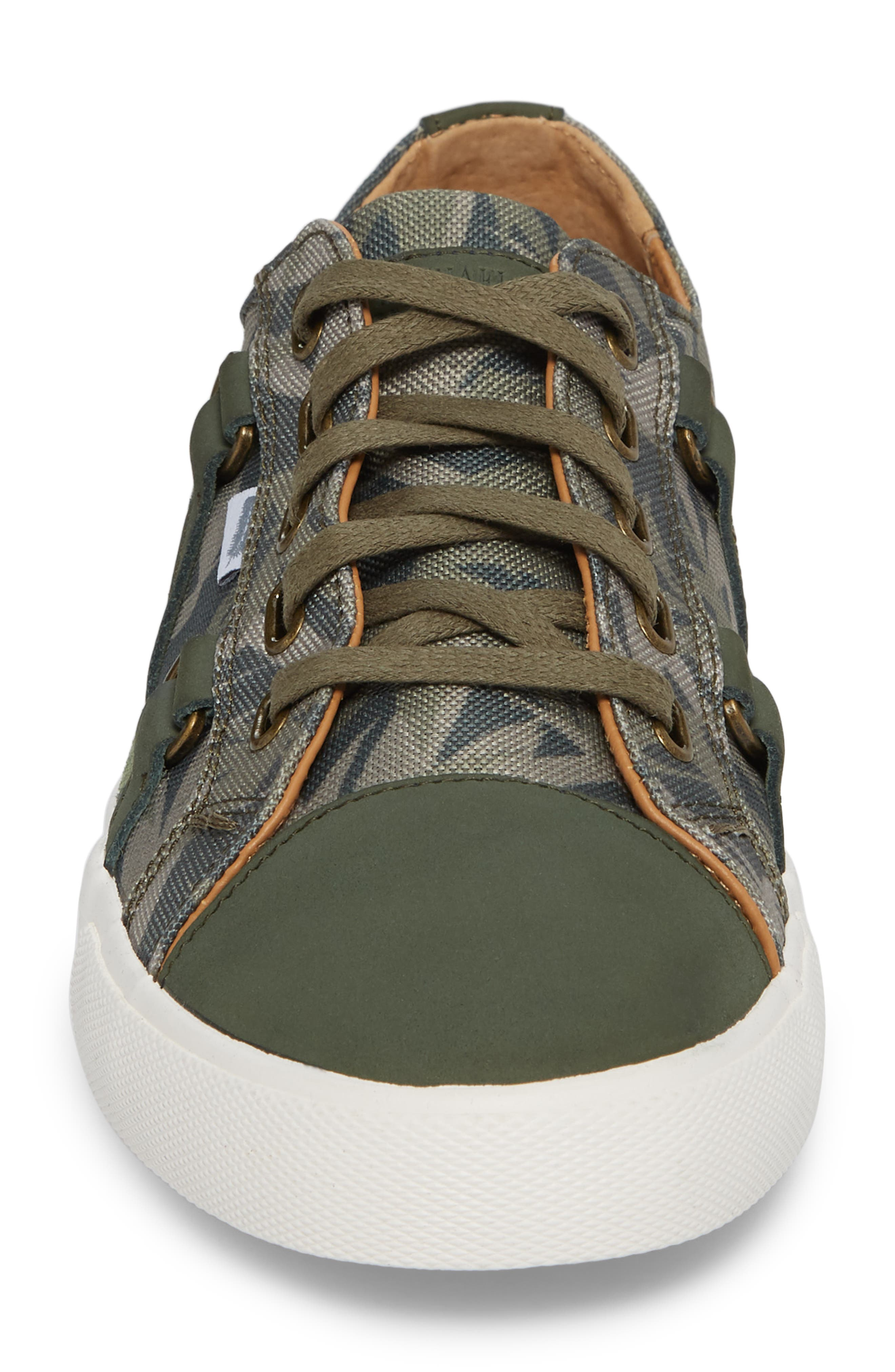 Signature Low Top Sneaker,                             Alternate thumbnail 4, color,                             Bamboo Canvas