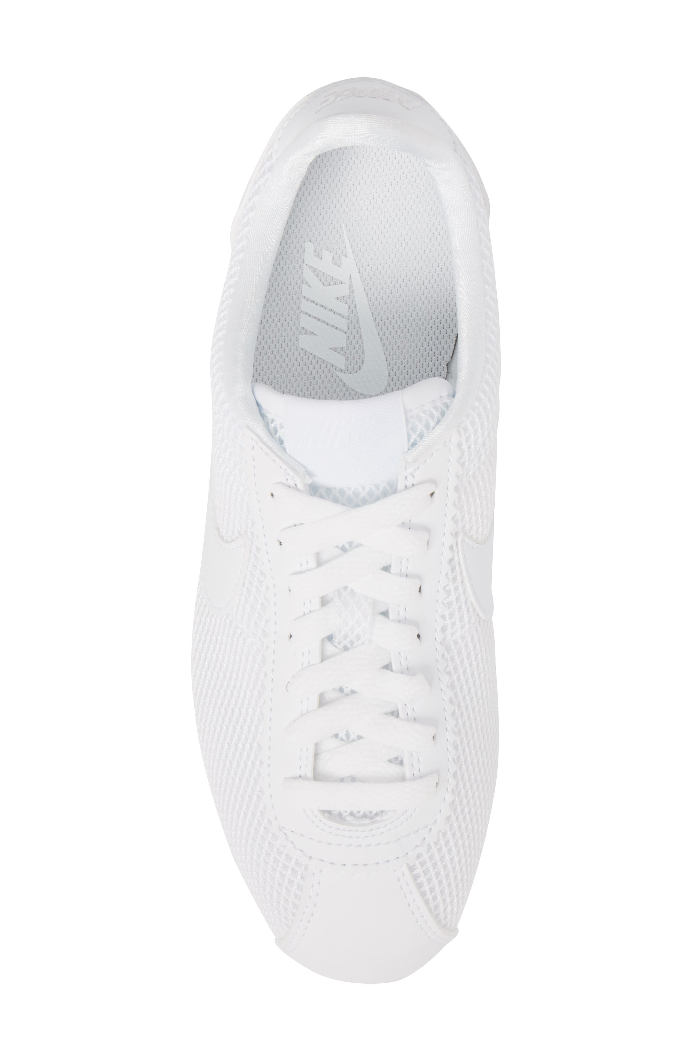 Classic Cortez Premium XLV Sneaker,                             Alternate thumbnail 5, color,                             White/ White