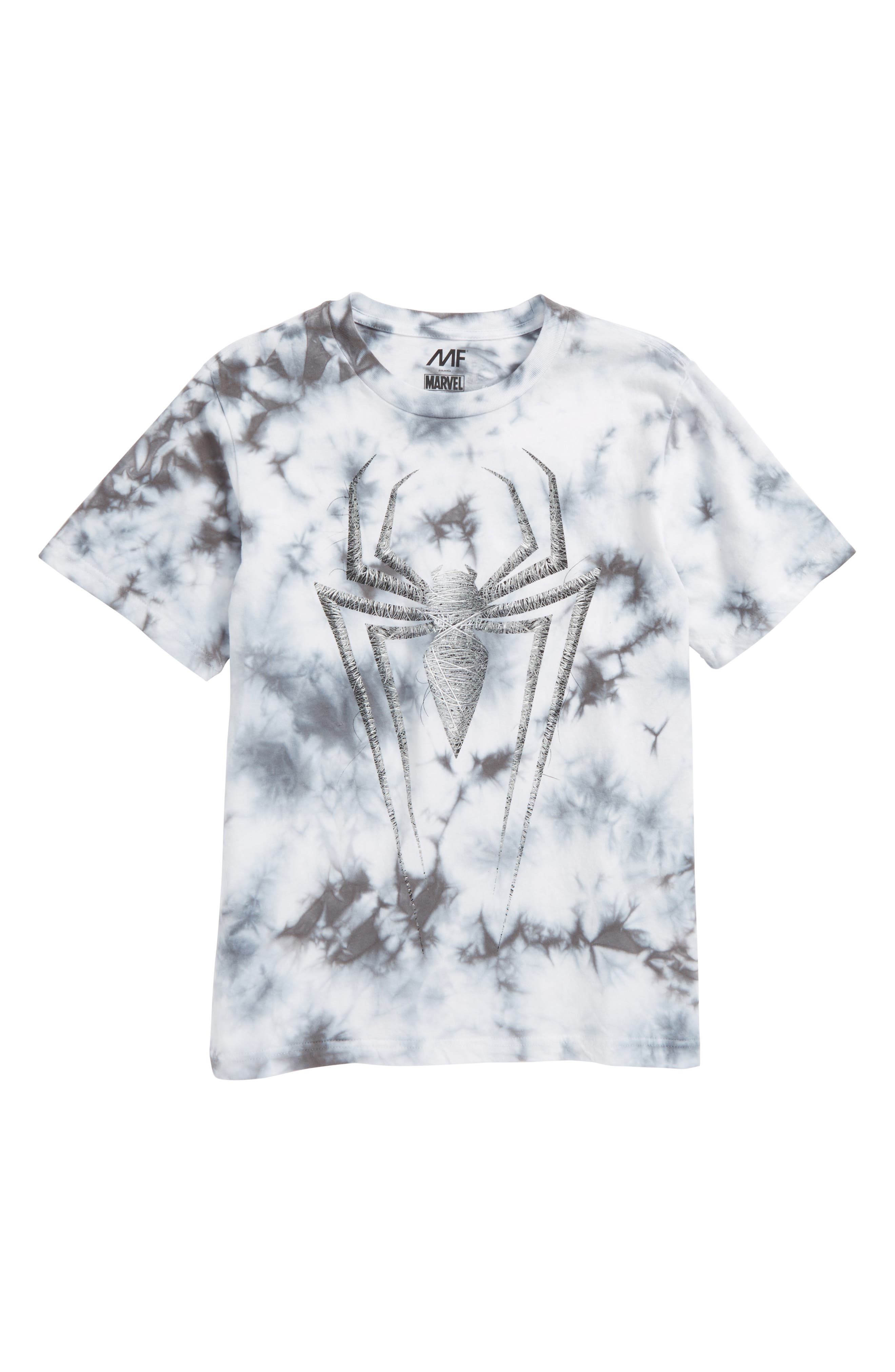 Web Spider Graphic T-Shirt,                         Main,                         color, Grey Cloud Wash
