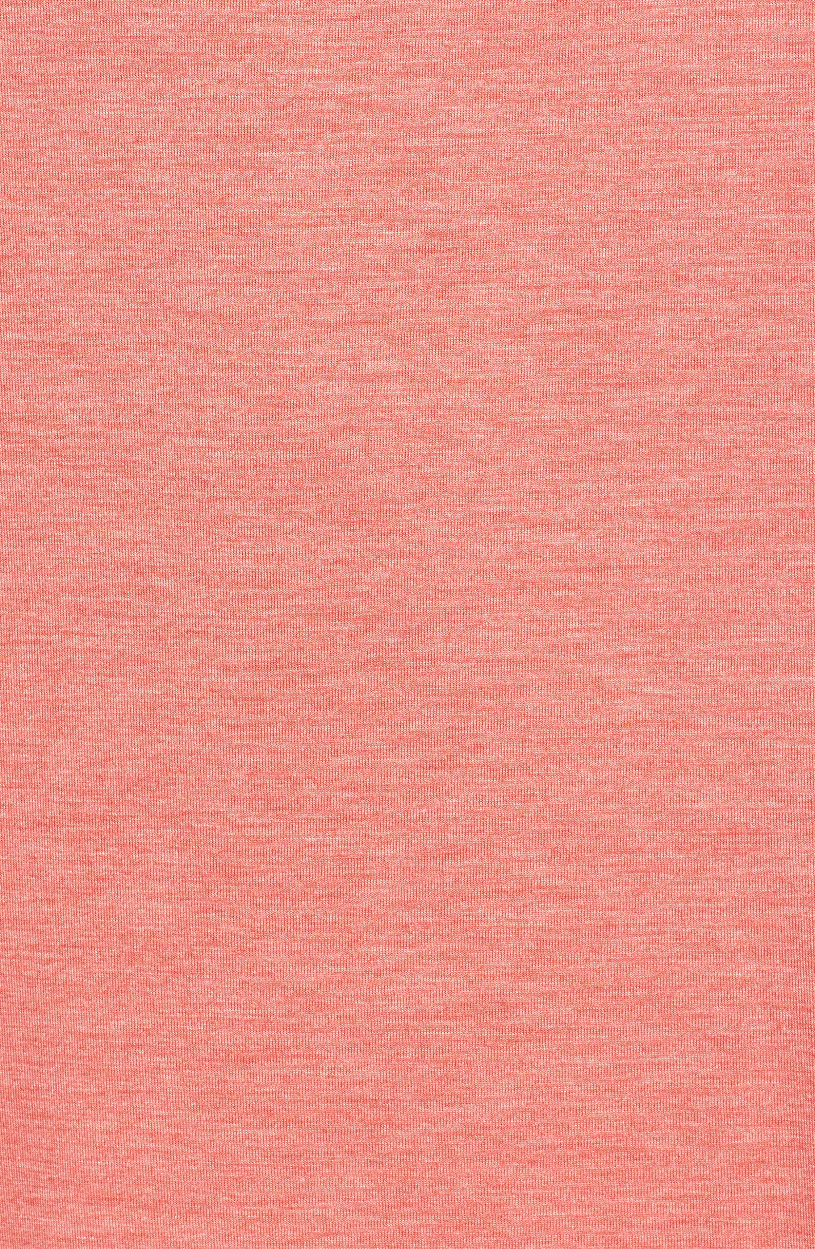 Feathers Essential Sleep Shirt,                             Alternate thumbnail 6, color,                             Coral