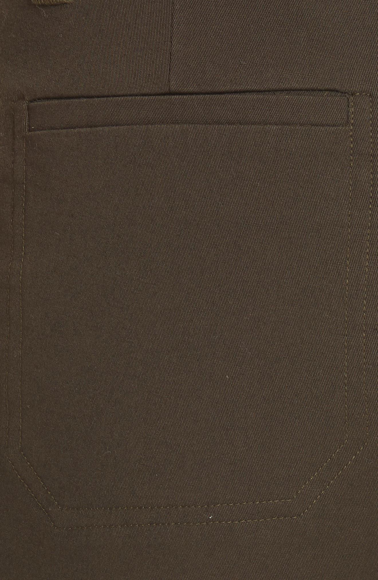 Coin Pocket Bermuda Shorts,                             Alternate thumbnail 5, color,                             Pinon Green