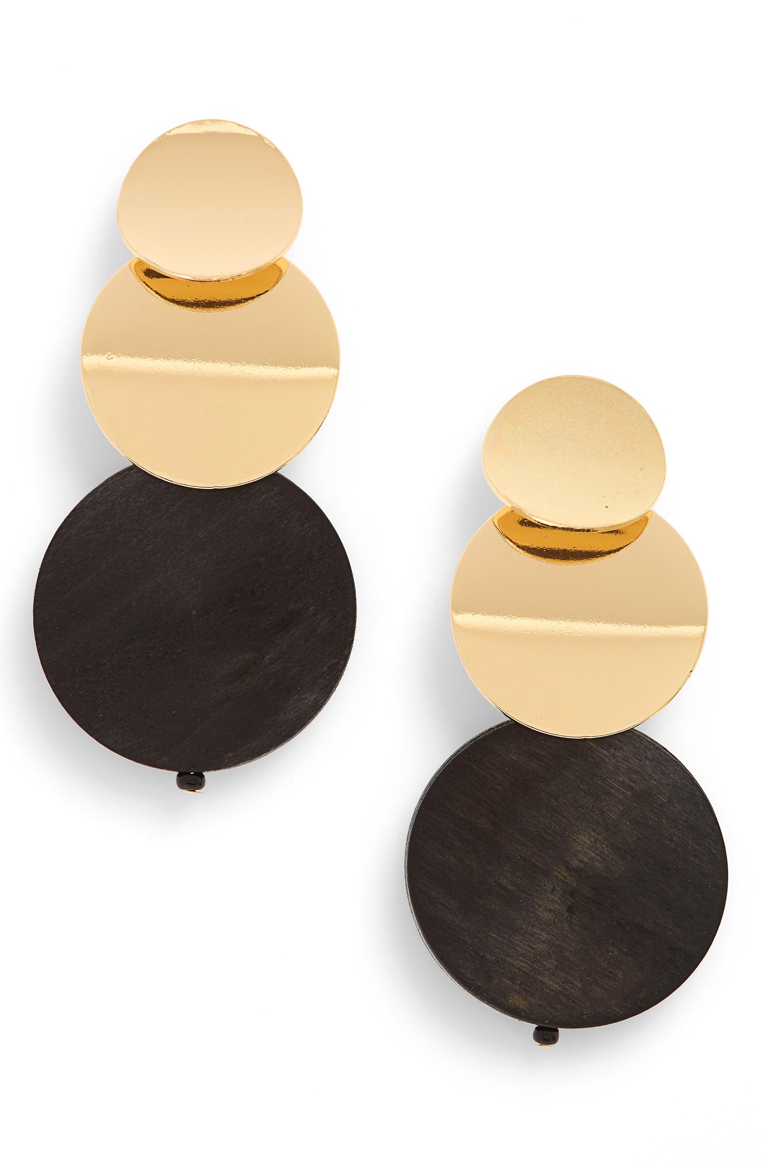 Natasha Three Circle Earrings