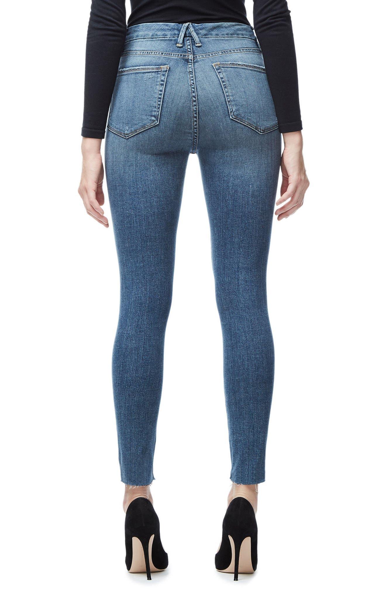 Good Waist Crop Skinny Jeans,                             Alternate thumbnail 2, color,                             Blue026