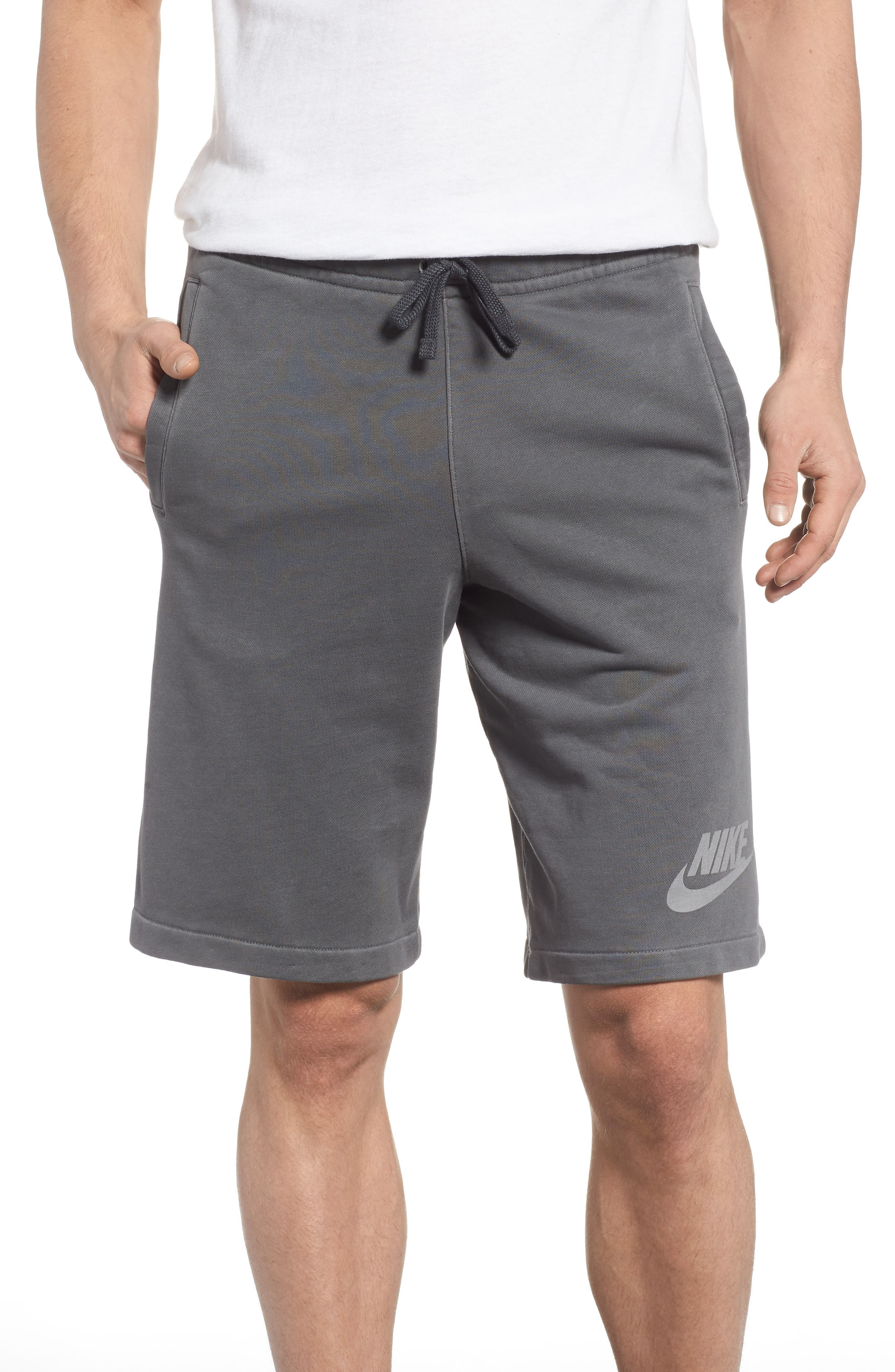 NSW Cotton Blend Shorts,                             Main thumbnail 1, color,                             Black/ Anthracite/ Cool Grey
