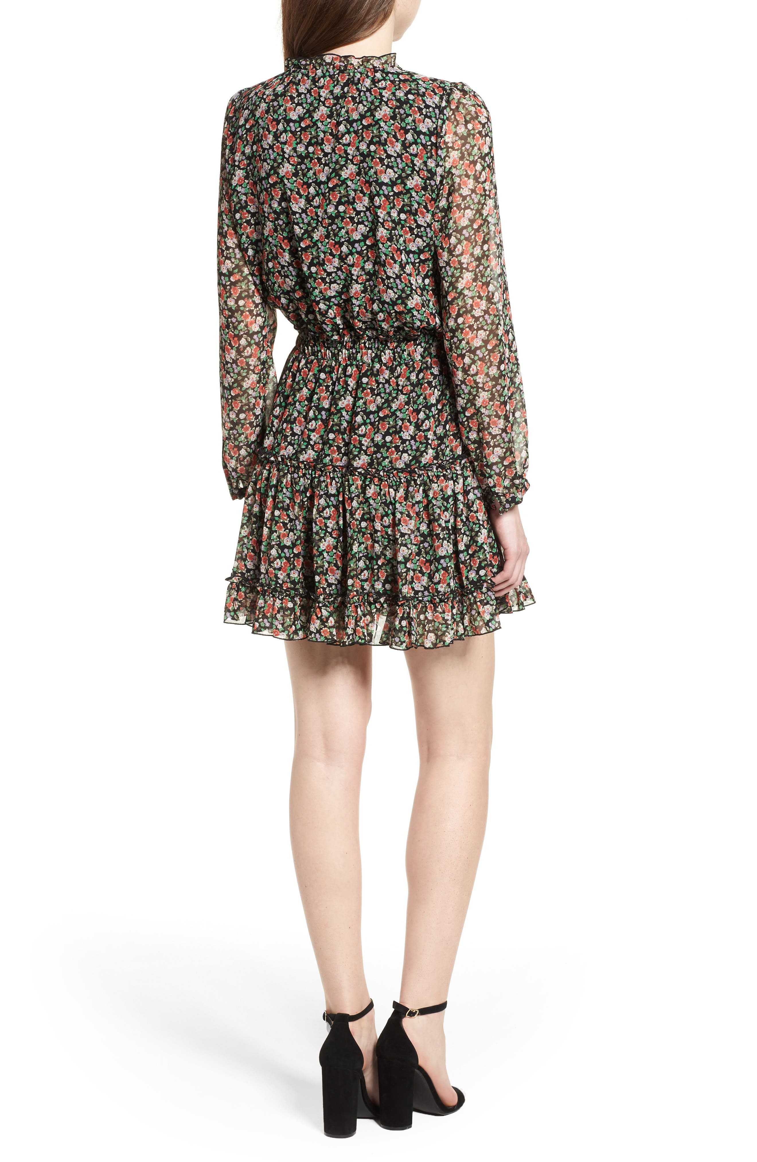 Rosemary Dress,                             Alternate thumbnail 2, color,                             Black Multi
