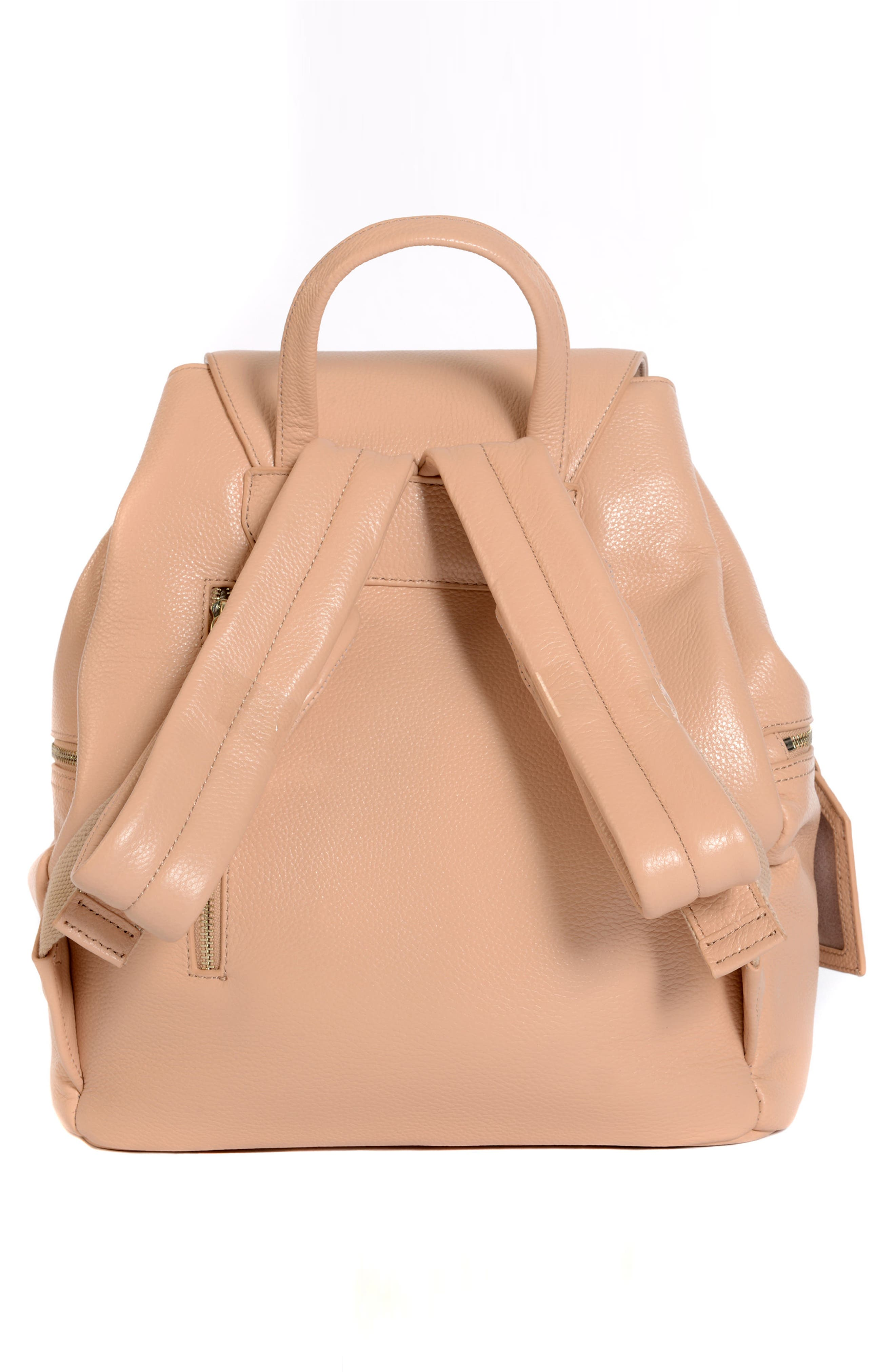 Thor Leather Backpack,                             Alternate thumbnail 2, color,                             Nude With Gold Hardware