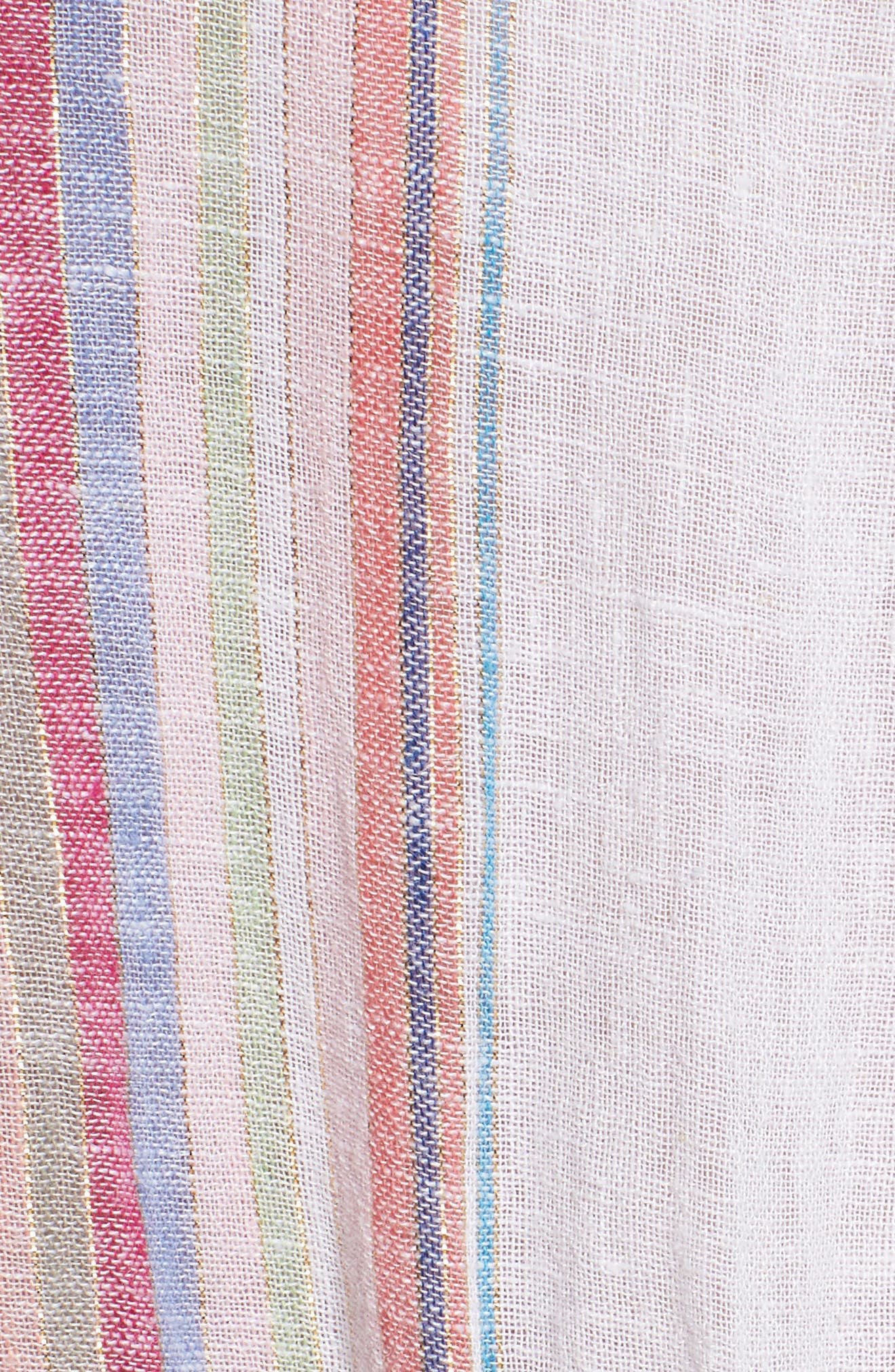 Lucca Linen Blend Dress,                             Alternate thumbnail 5, color,                             Havana Stripe
