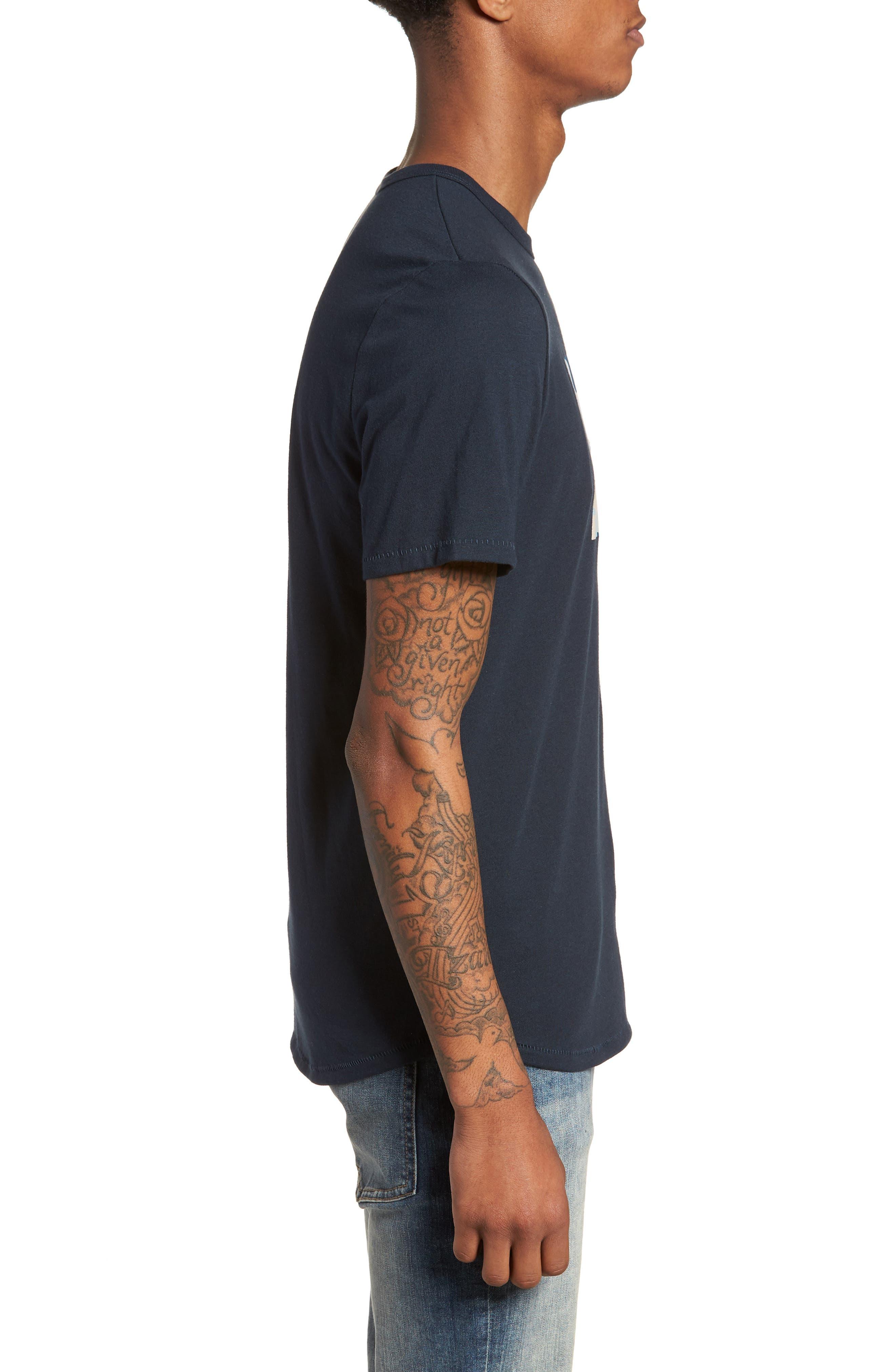 Nirvana Camo T-Shirt,                             Alternate thumbnail 3, color,                             Salute/ Navy