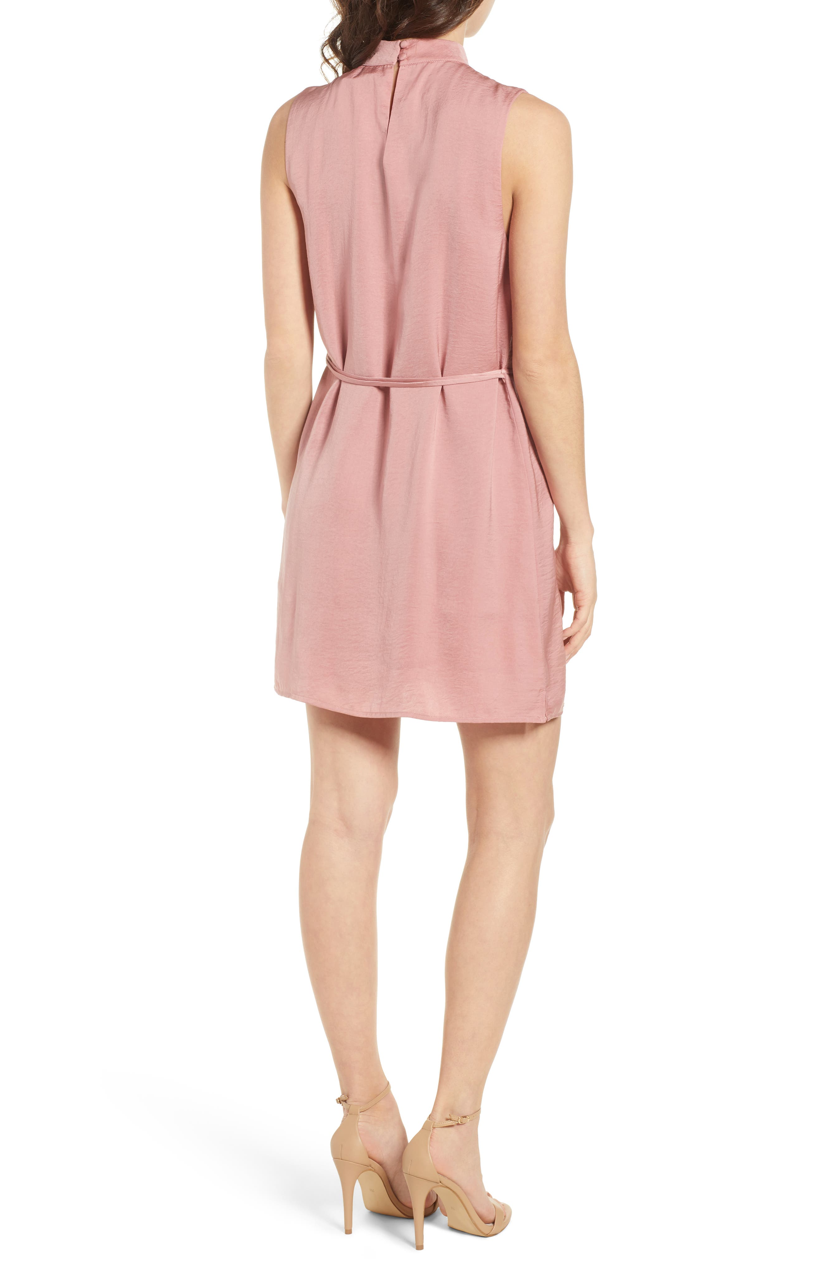 Hansel Sleeveless Dress,                             Alternate thumbnail 2, color,                             Faded Rose