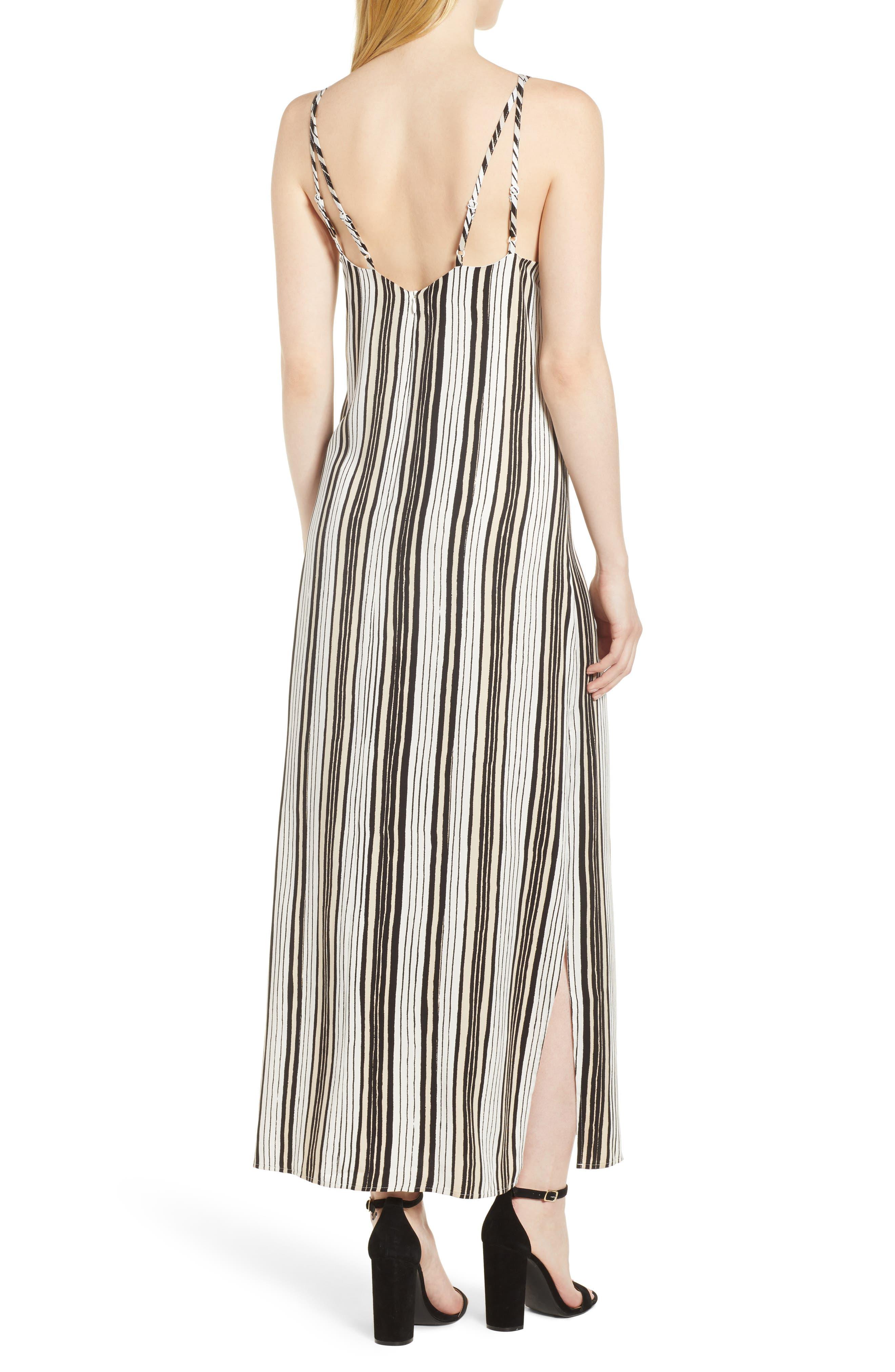 Corin Stripe Maxi Dress,                             Alternate thumbnail 2, color,                             Ivory