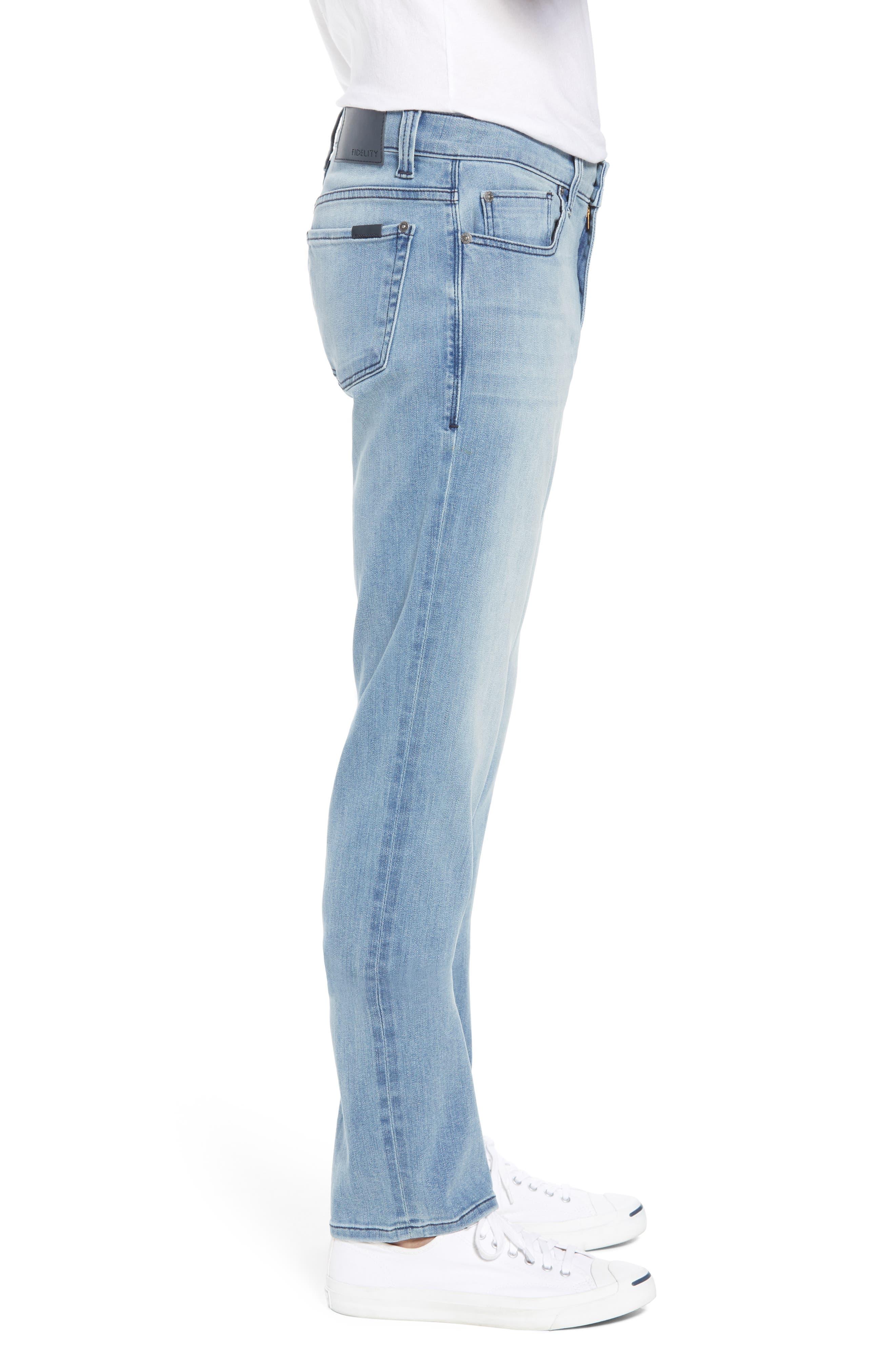 Jimmy Slim Straight Leg Jeans,                             Alternate thumbnail 3, color,                             Abbey Blue