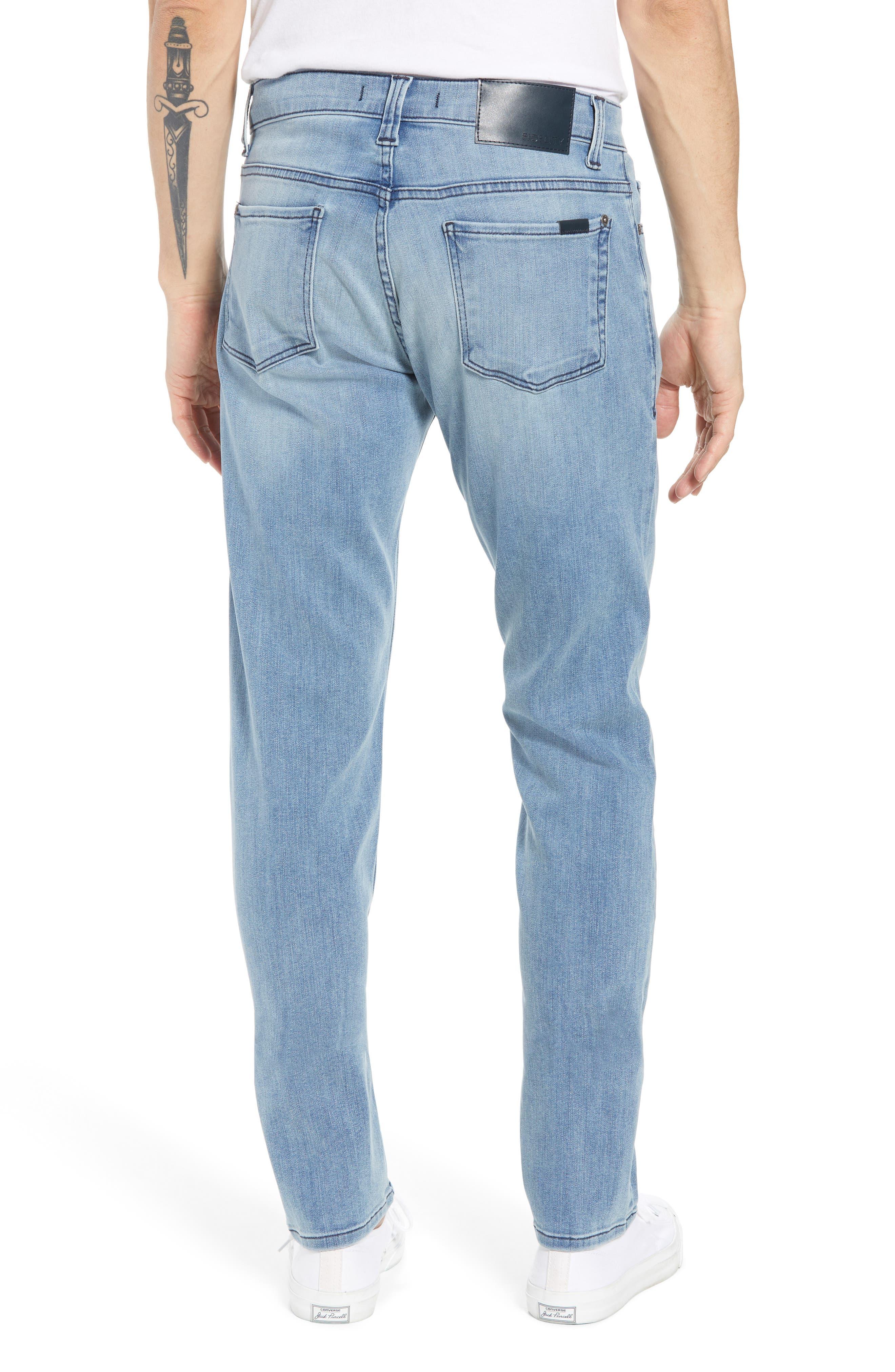 Jimmy Slim Straight Leg Jeans,                             Alternate thumbnail 2, color,                             Abbey Blue