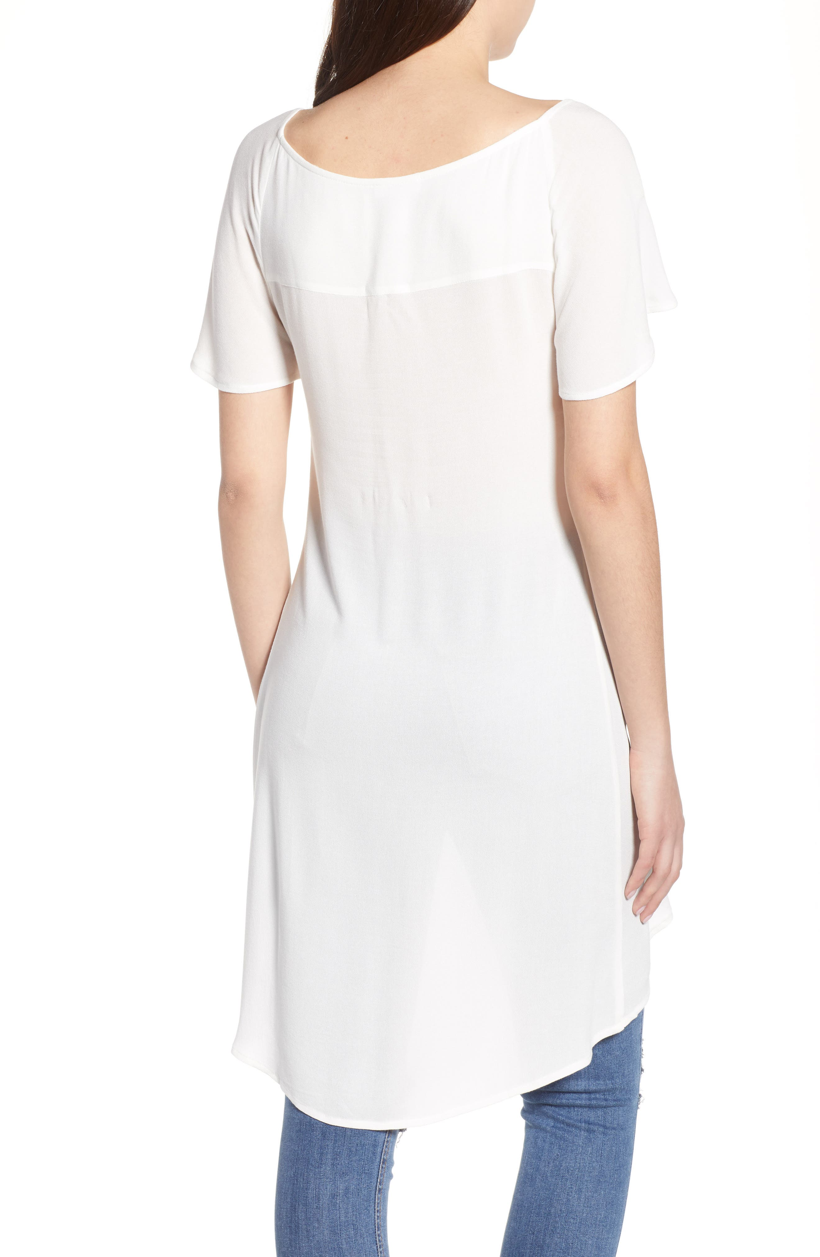 Portrait Tunic,                             Alternate thumbnail 2, color,                             Ivory