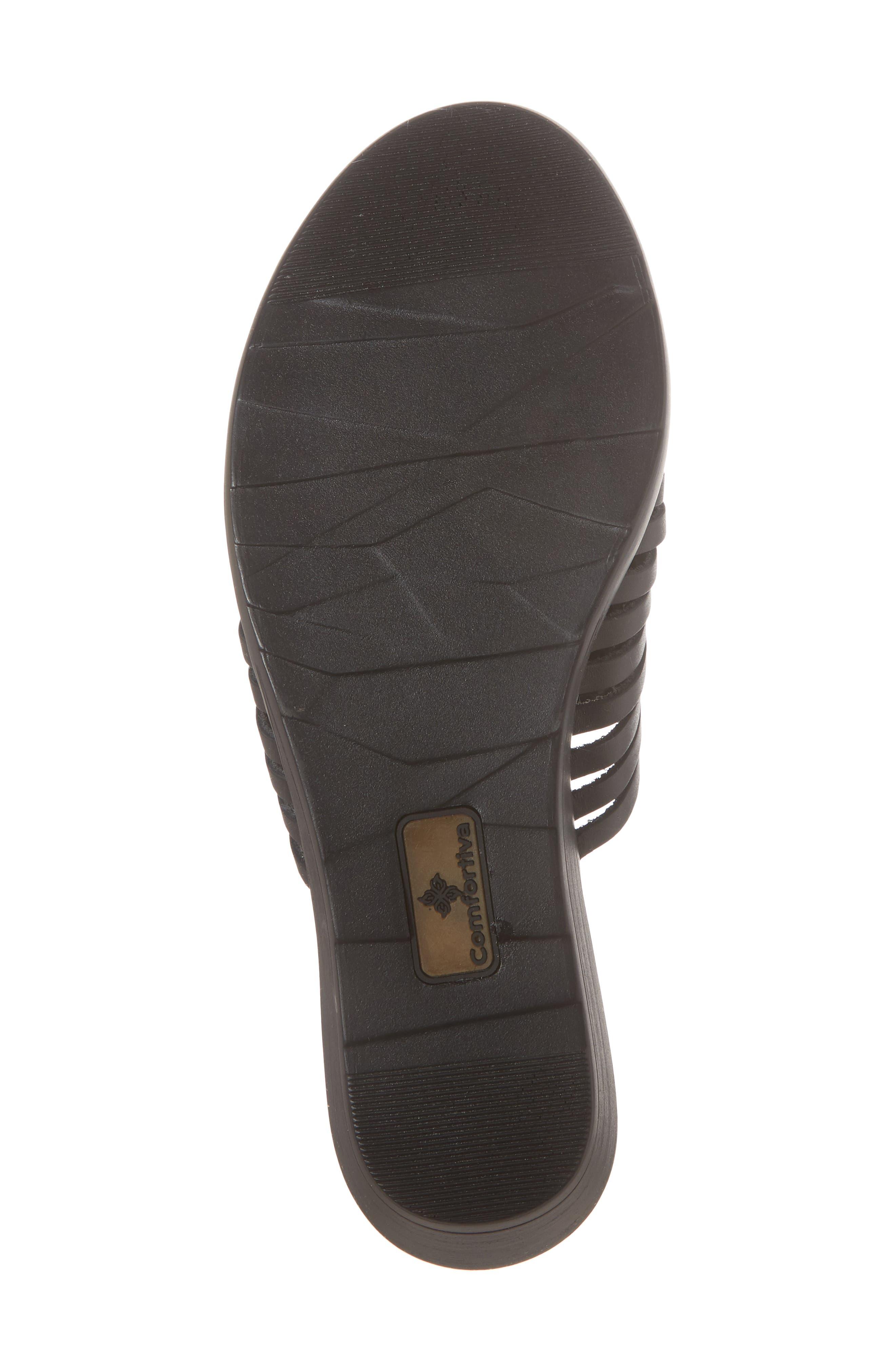 Felida Huarache Slide Sandal,                             Alternate thumbnail 6, color,                             Black Leather