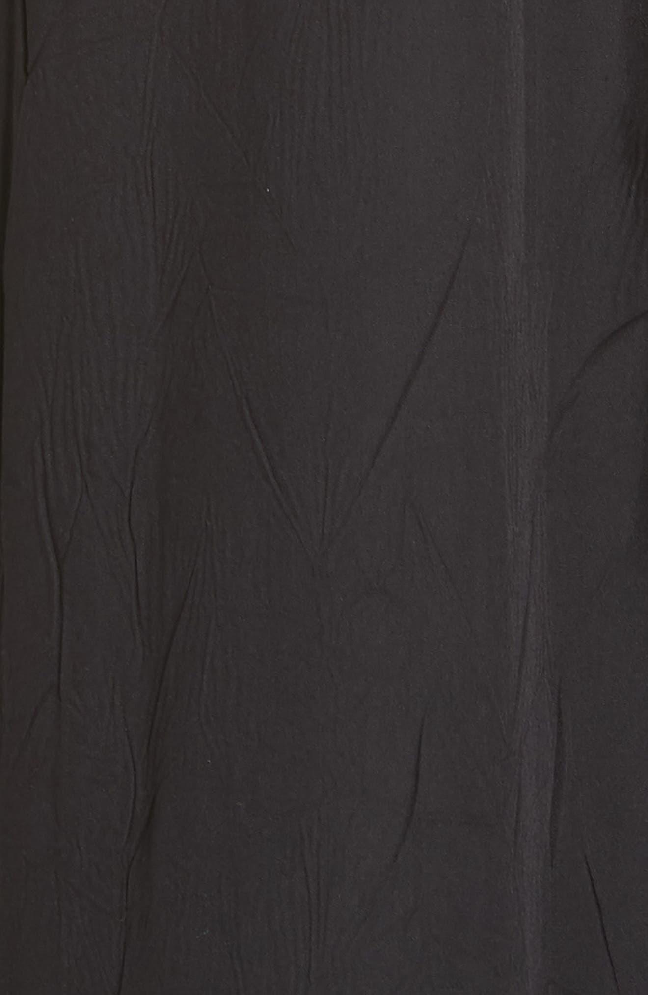Tiered Halter Keyhole Dress,                             Alternate thumbnail 5, color,                             Black