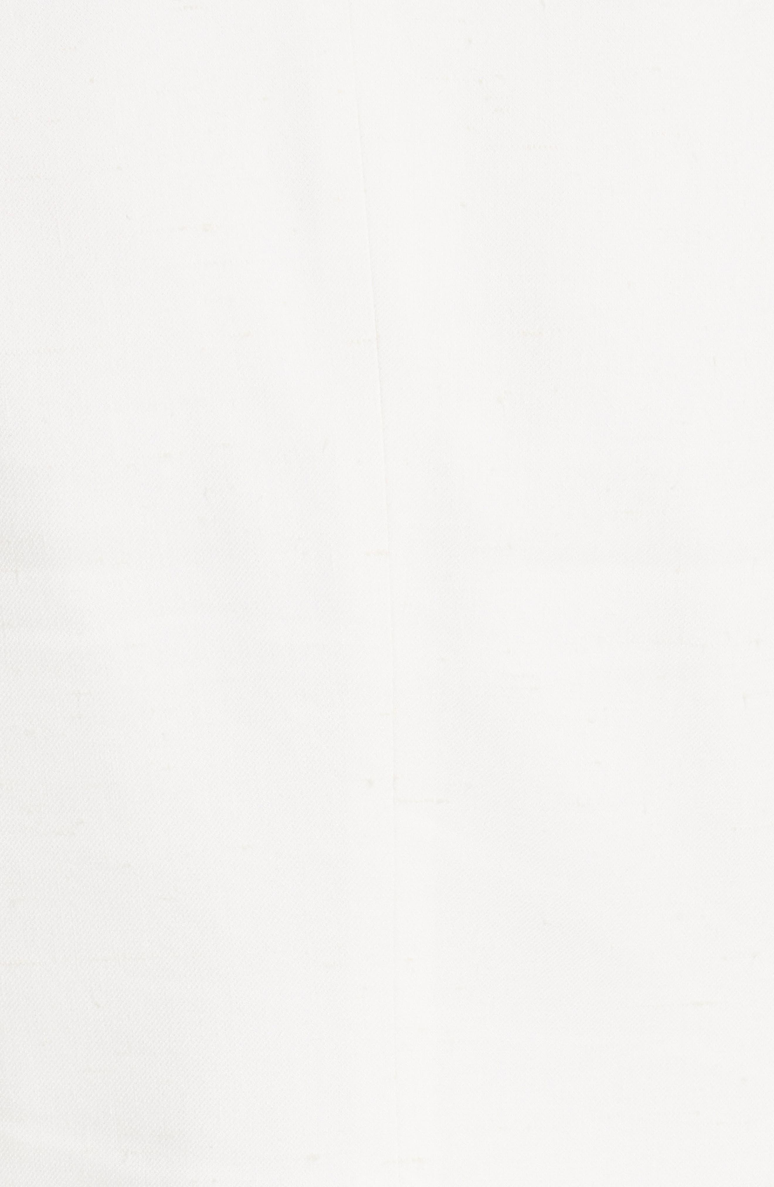 Stretch Linen Blend Blazer,                             Alternate thumbnail 5, color,                             Snow