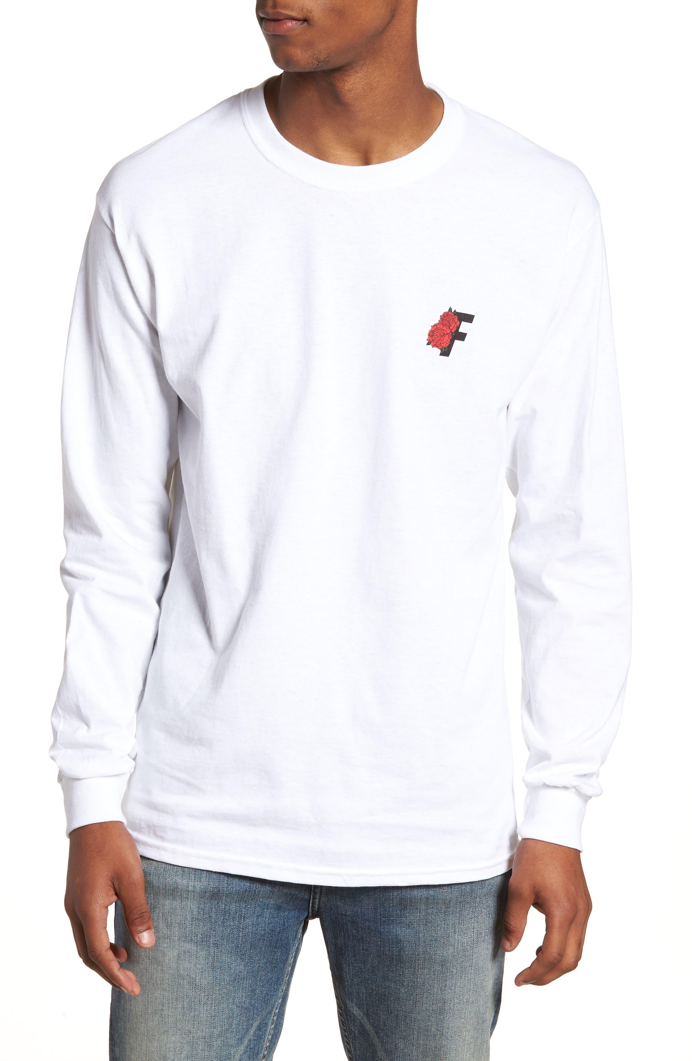 Roses Graphic T-Shirt,                             Main thumbnail 1, color,                             White
