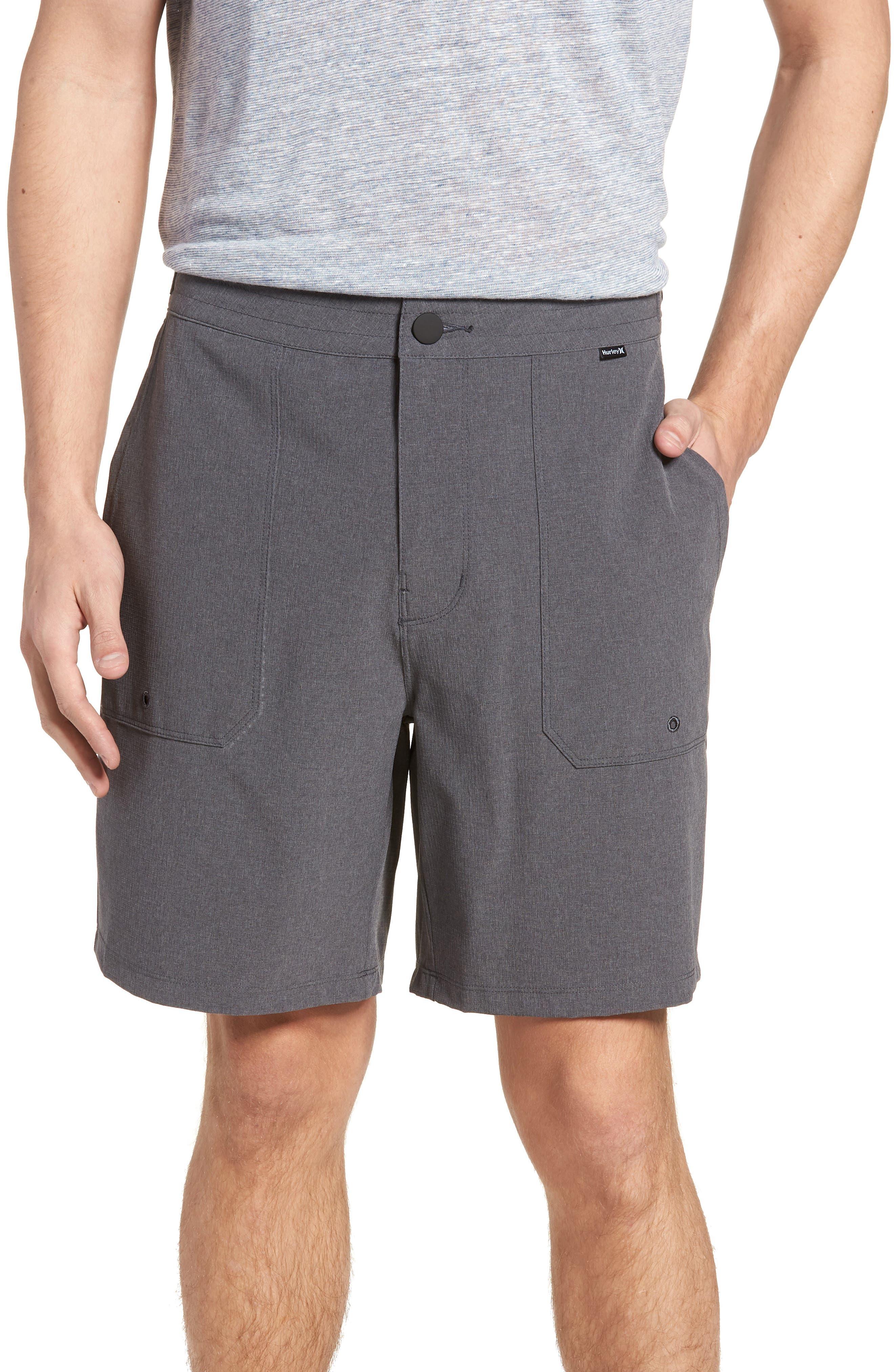 Phantom Coastline Shorts,                         Main,                         color, Black Heather