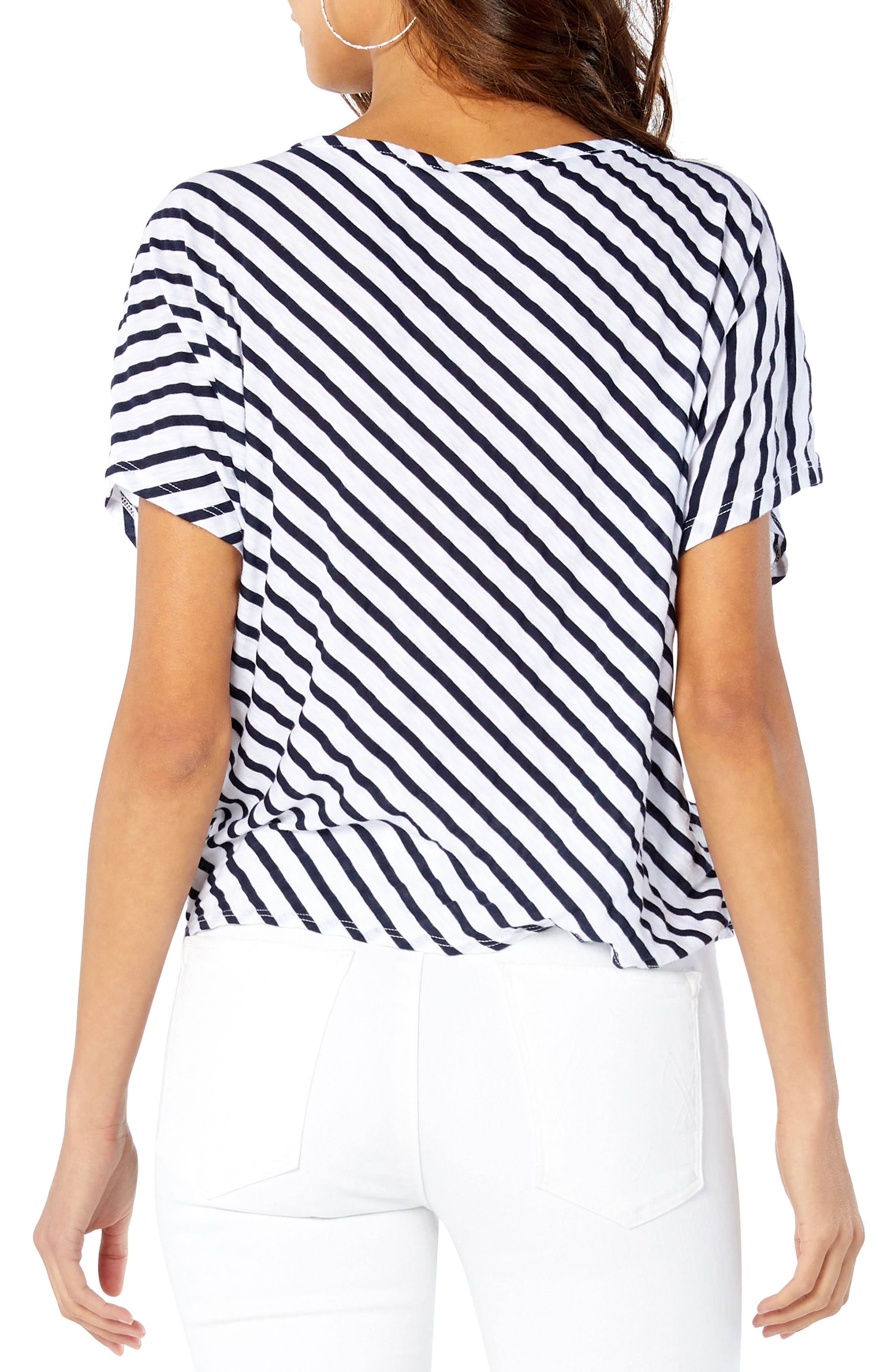 Riviera Tie Front Top,                             Alternate thumbnail 2, color,                             White