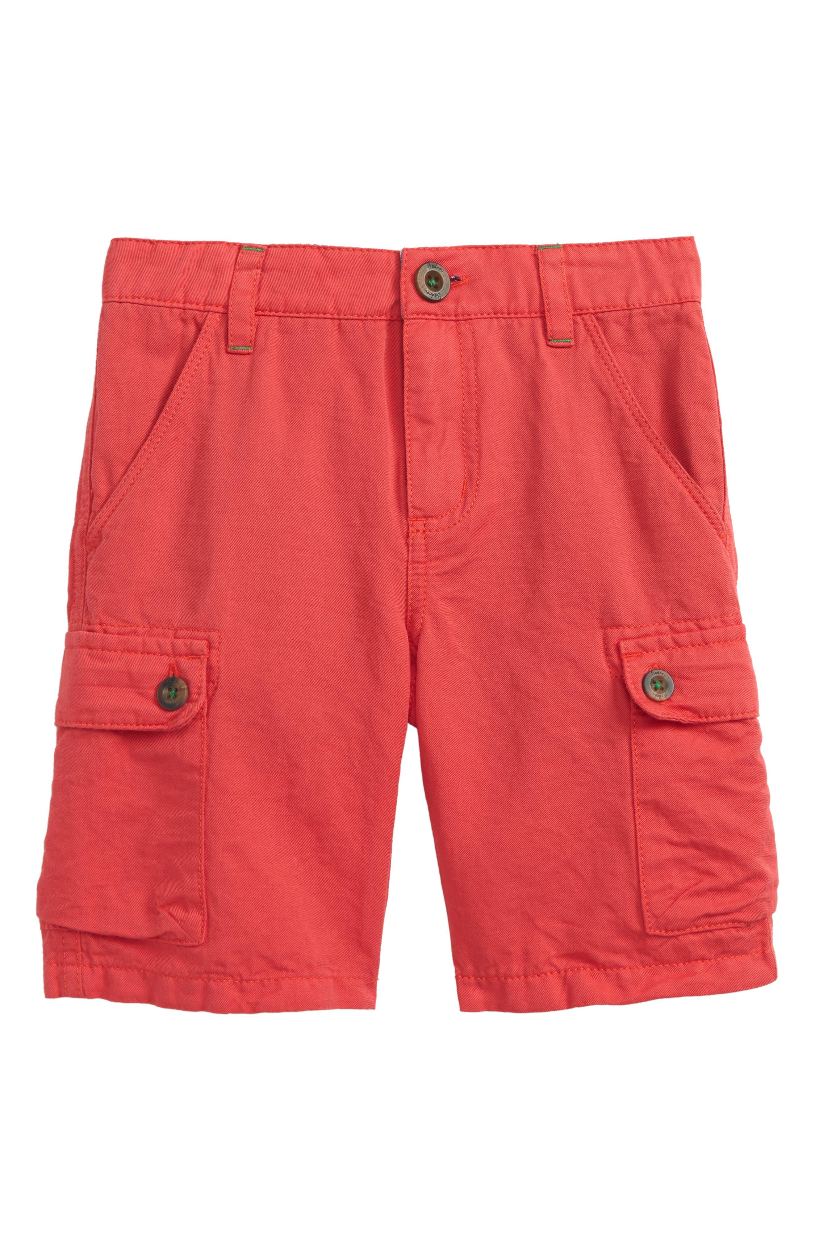 Summer Cargo Shorts,                             Main thumbnail 1, color,                             Jam Red