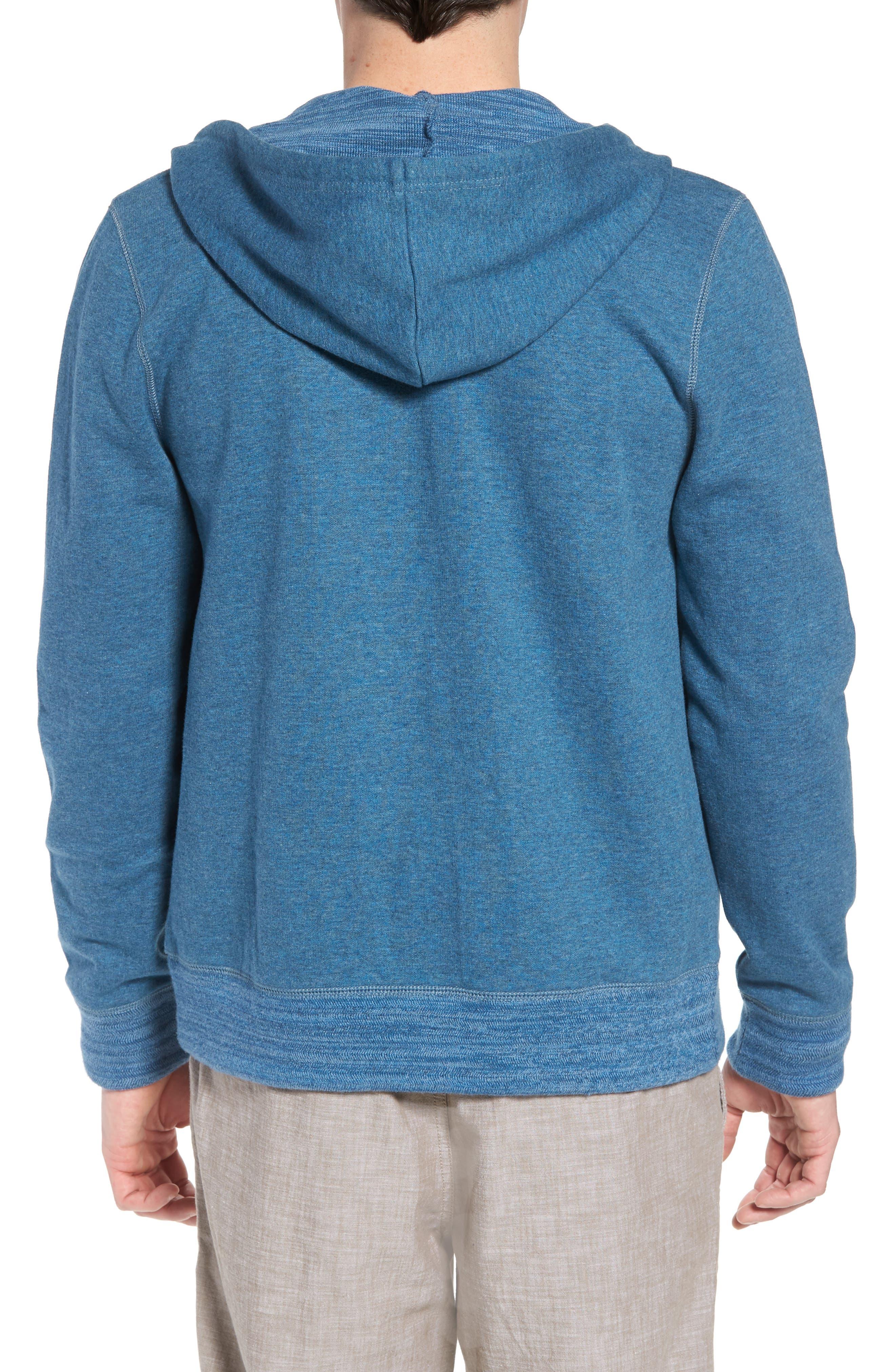 Space Dyed Zip Hoodie,                             Alternate thumbnail 2, color,                             Blue Dark Heather