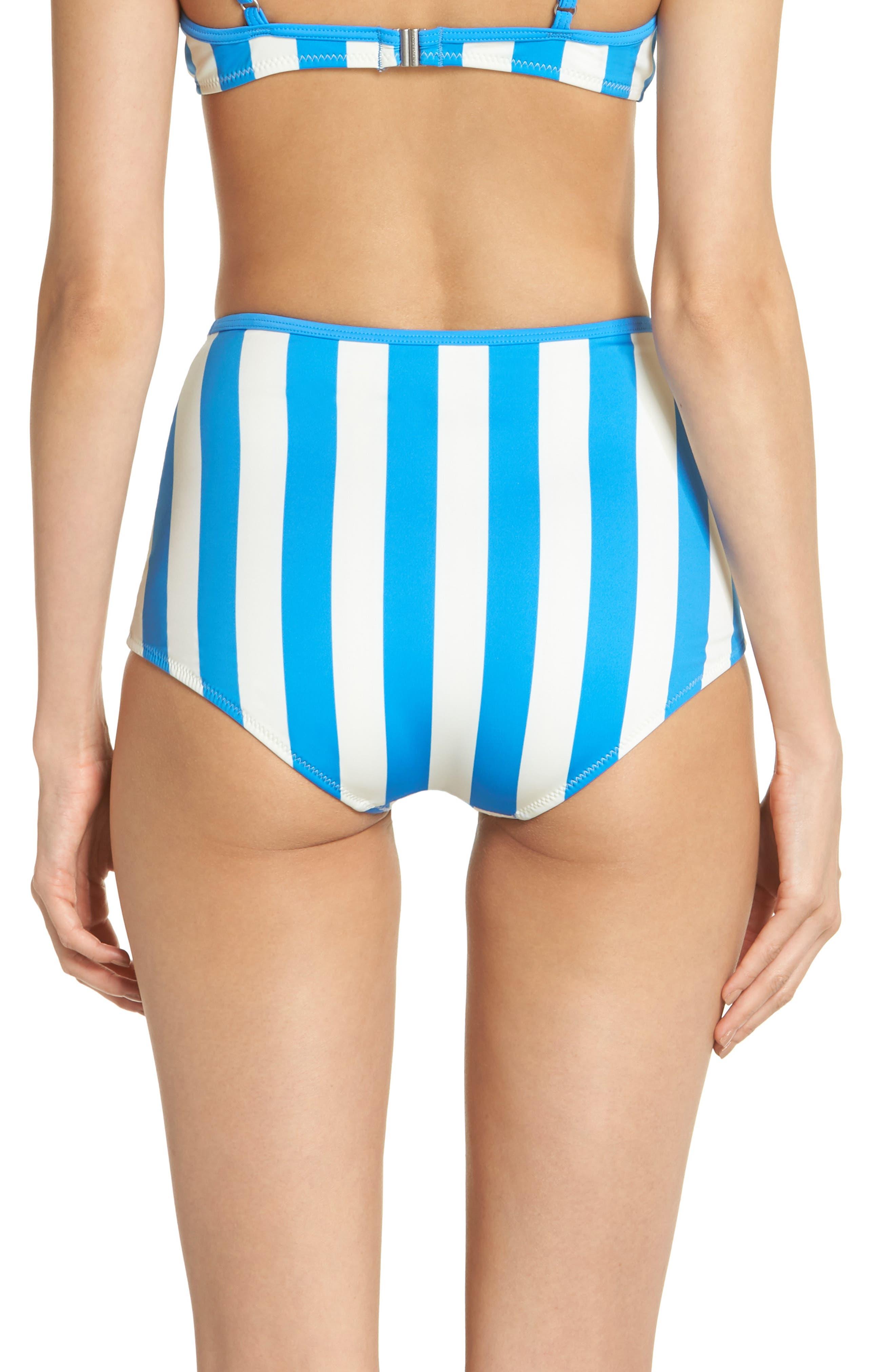 The Brigitte Swim Briefs,                             Alternate thumbnail 2, color,                             Sea Stripe