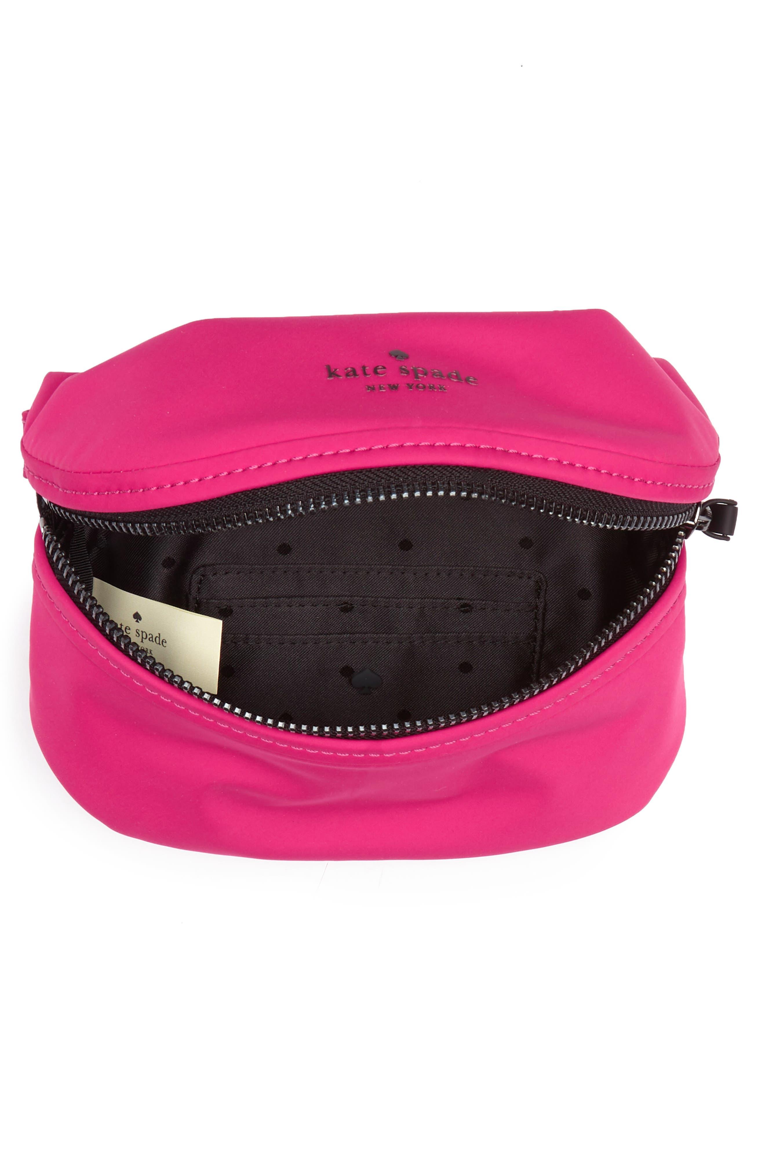 that's the spirit mini nylon fanny pack,                             Alternate thumbnail 5, color,                             Kinetic Pink