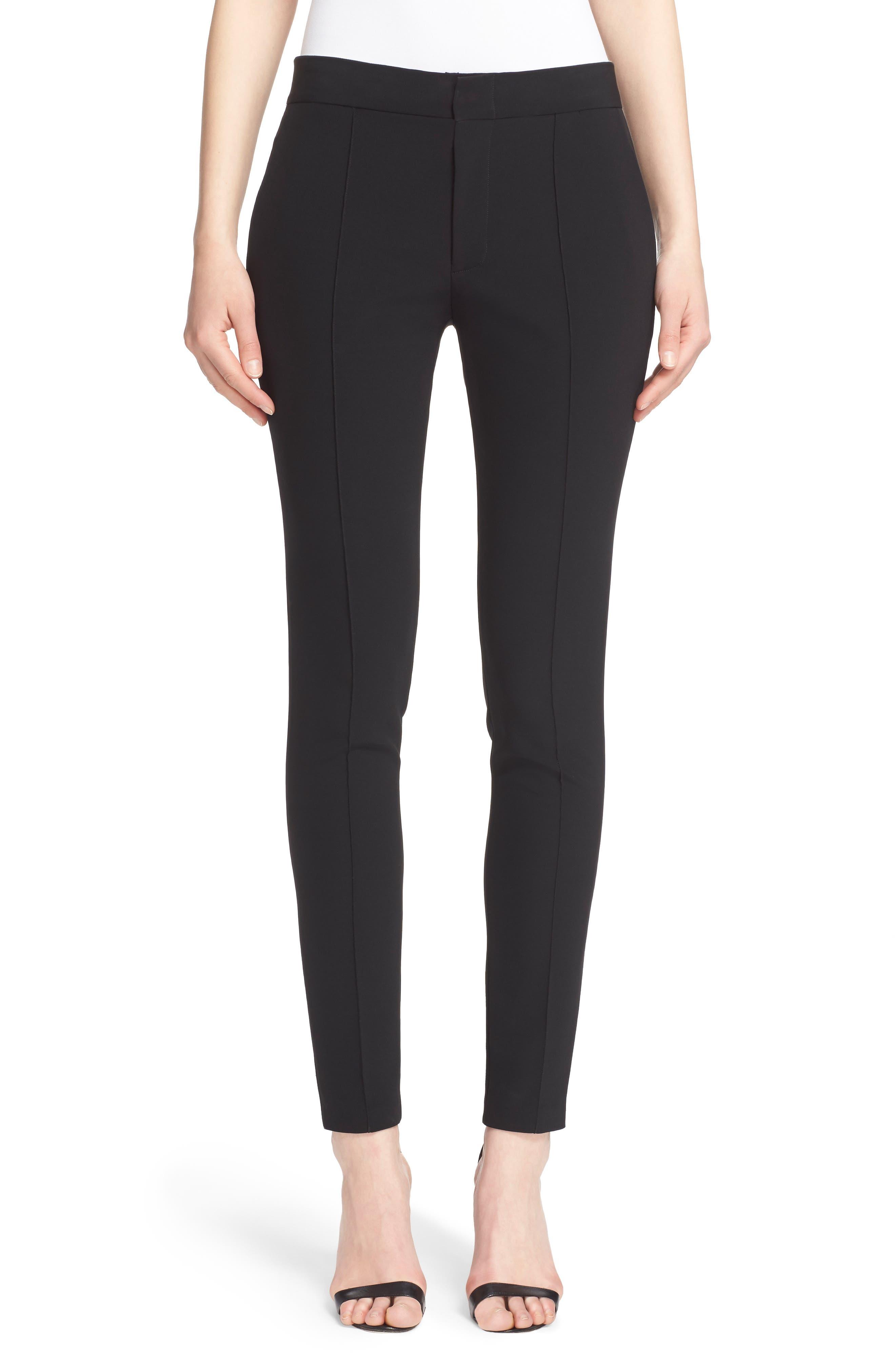 Crop Bi-Stretch Pants,                         Main,                         color, Black