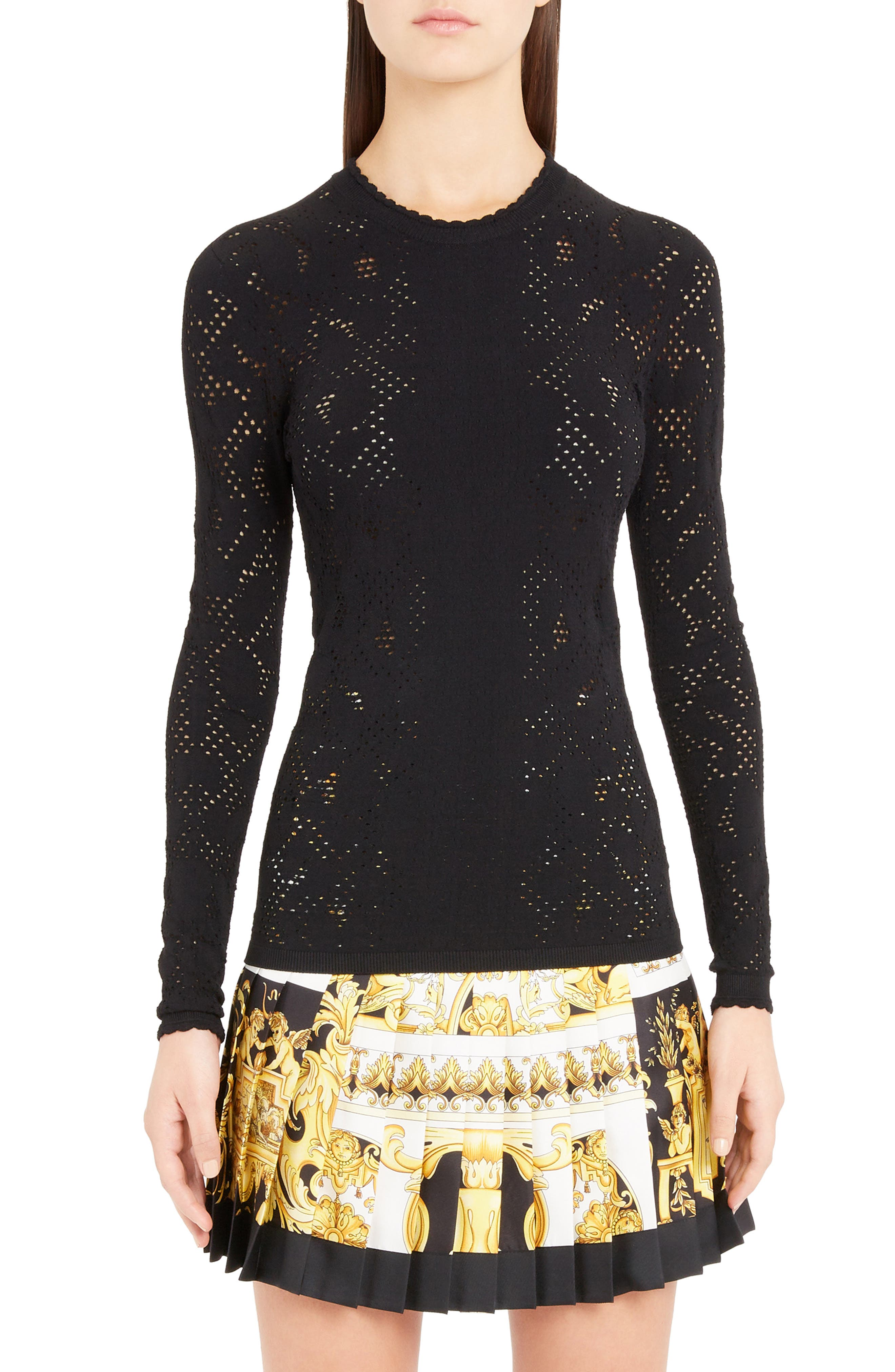 Versace Detail Knit Top