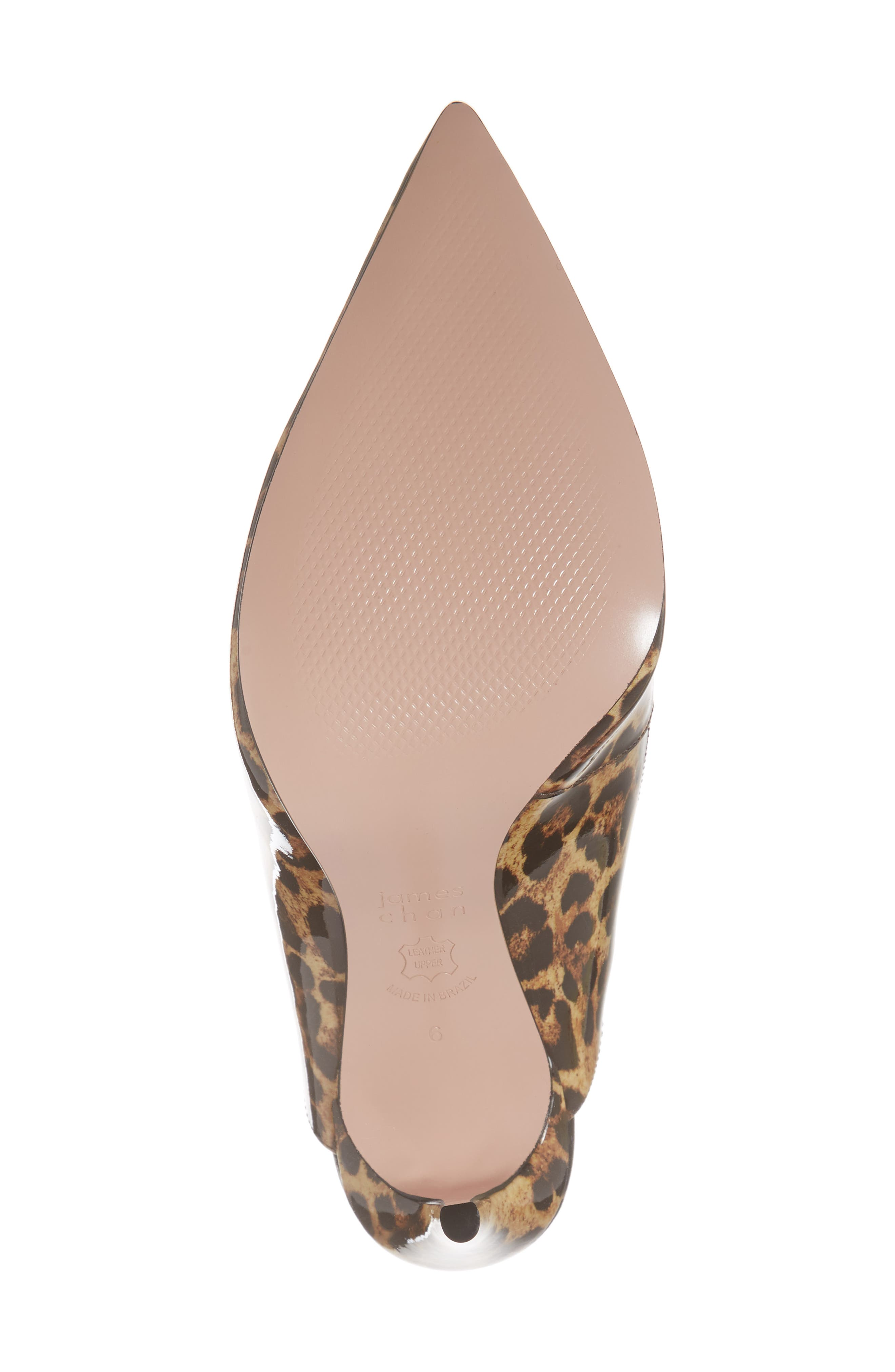 Alice Pointy Toe Pump,                             Alternate thumbnail 6, color,                             Leopard Leather