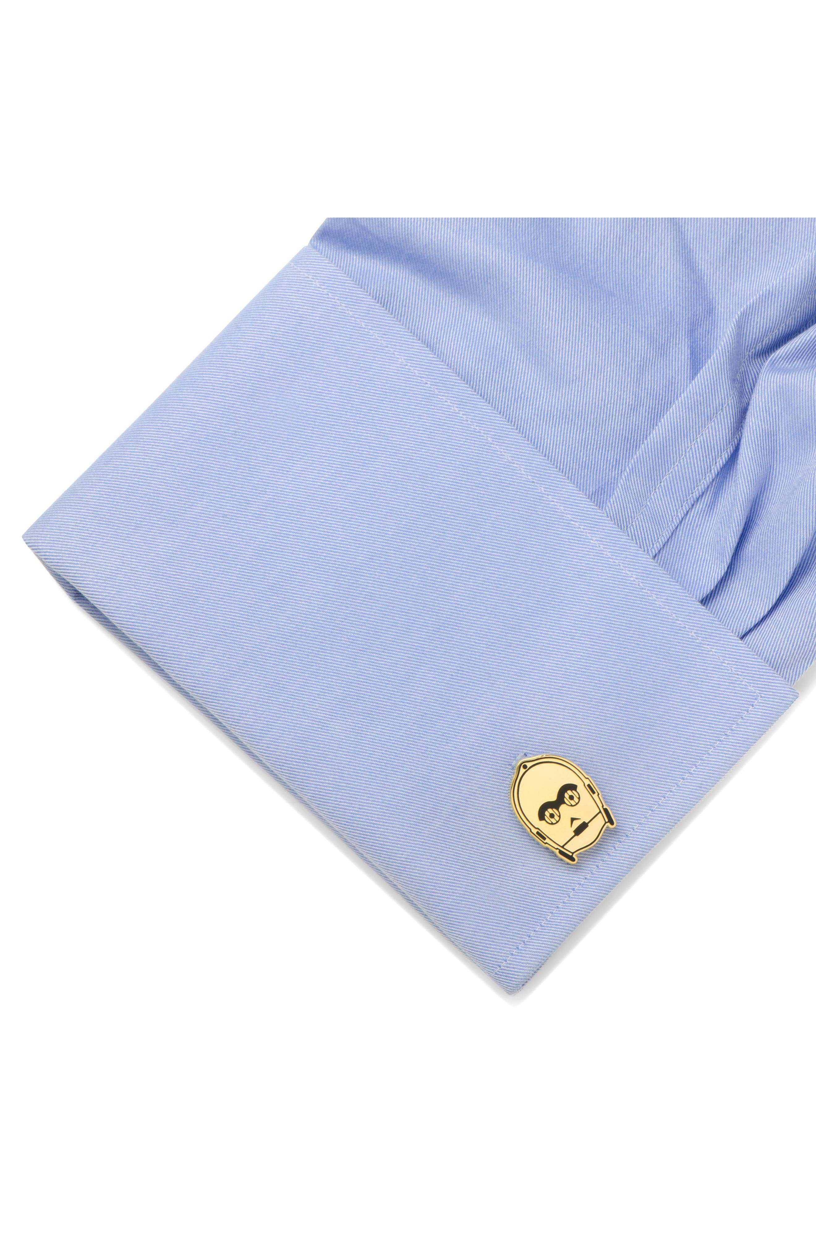 C-3PO Cuff Links,                             Alternate thumbnail 3, color,                             Gold