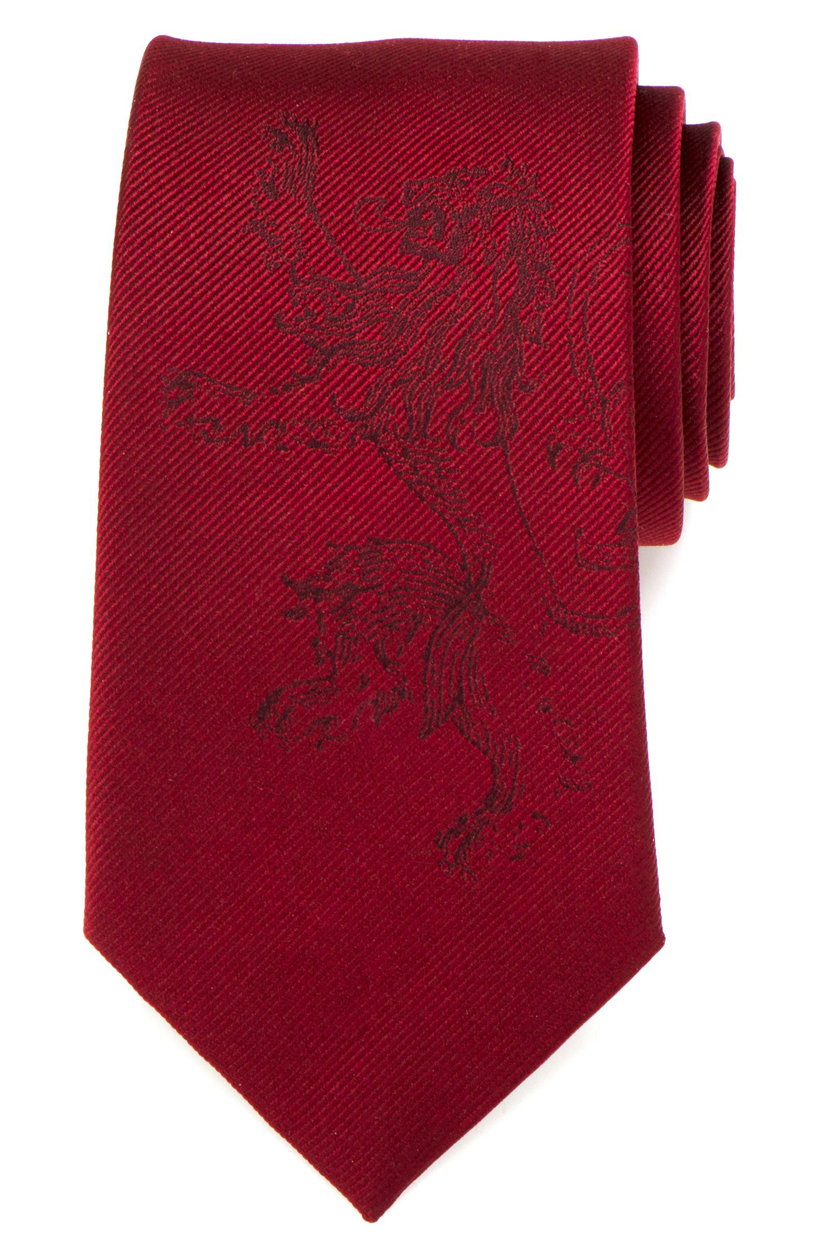 Game of Thrones Lannister Silk Tie,                             Alternate thumbnail 3, color,                             Red