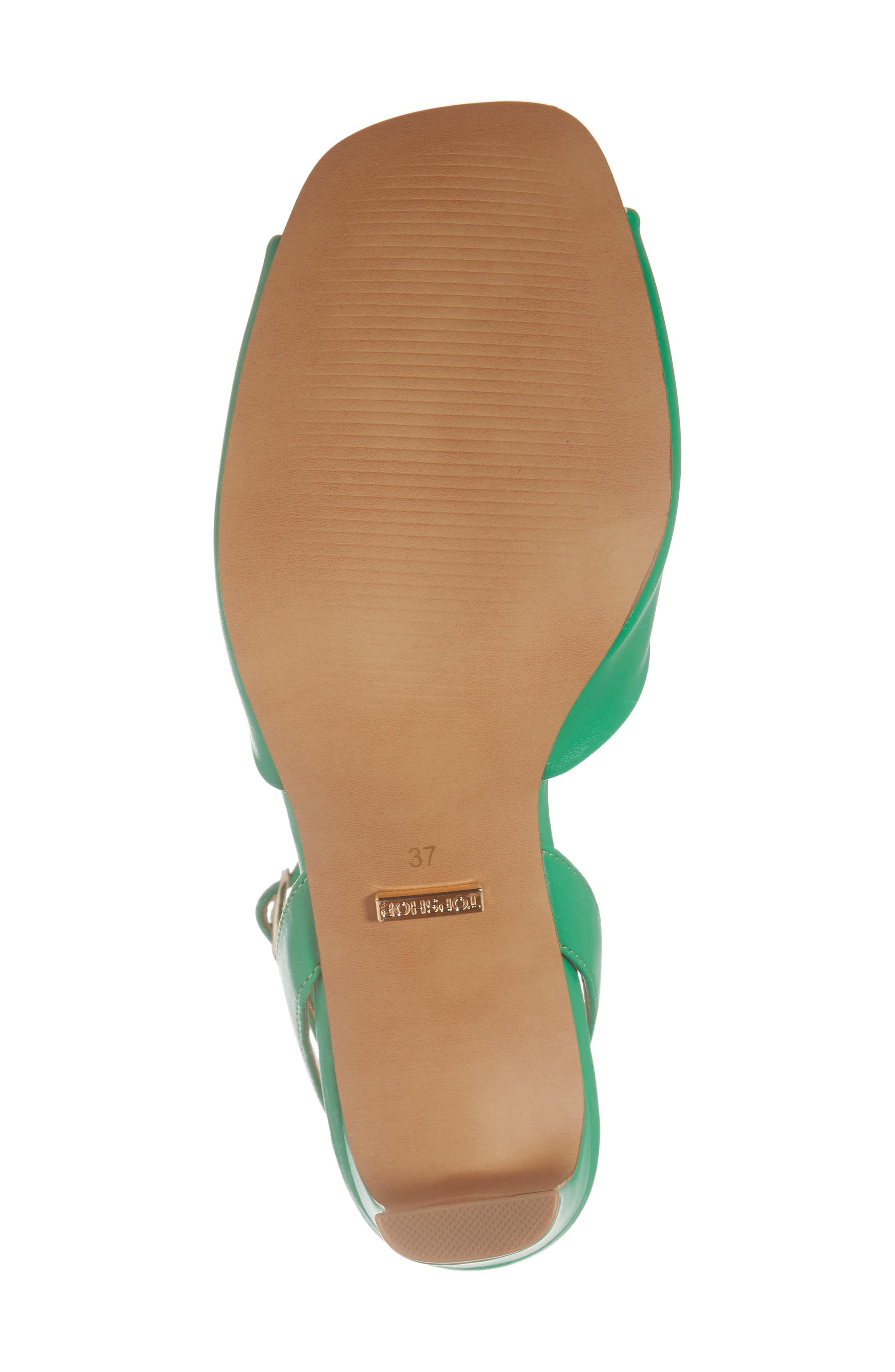 Raven Skinny Heel Sandal,                             Alternate thumbnail 6, color,                             Green