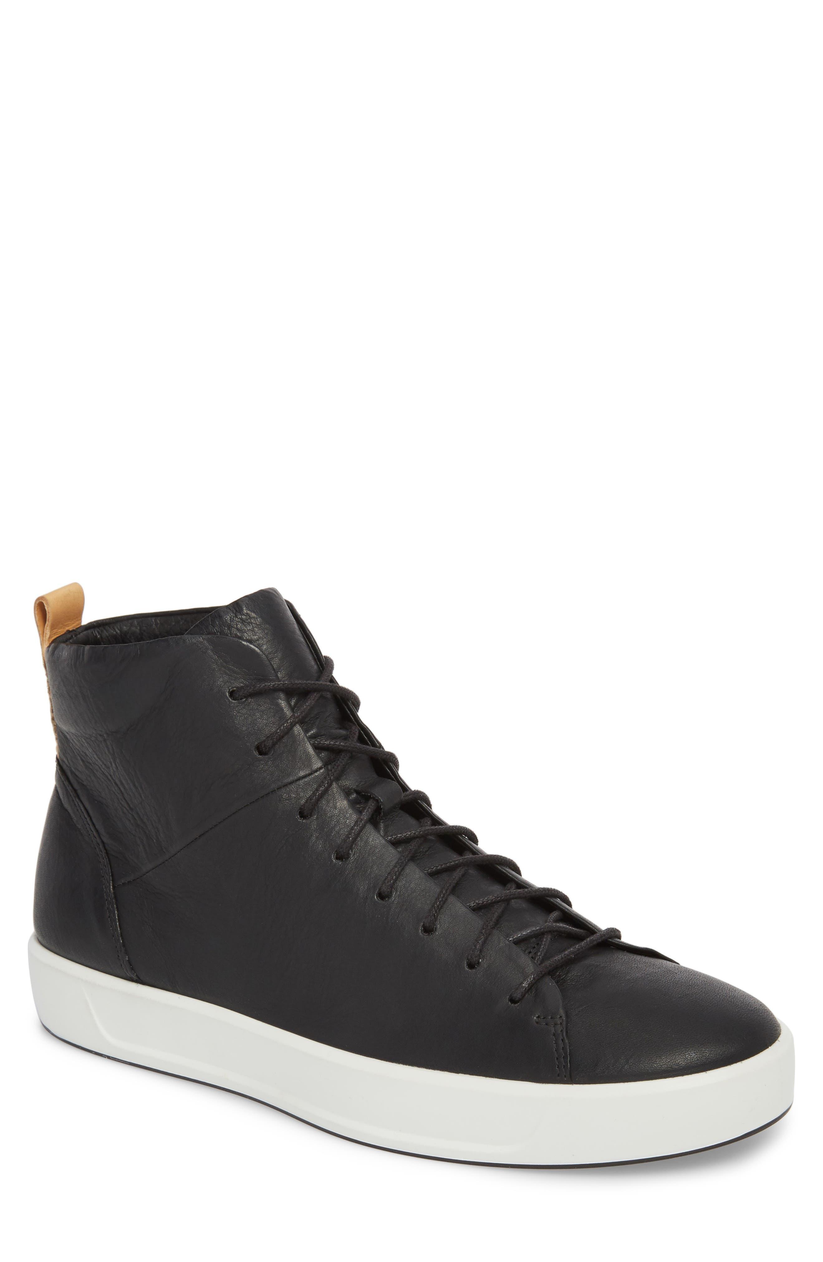 Soft 8 Sneaker,                         Main,                         color, Black/Black Leather