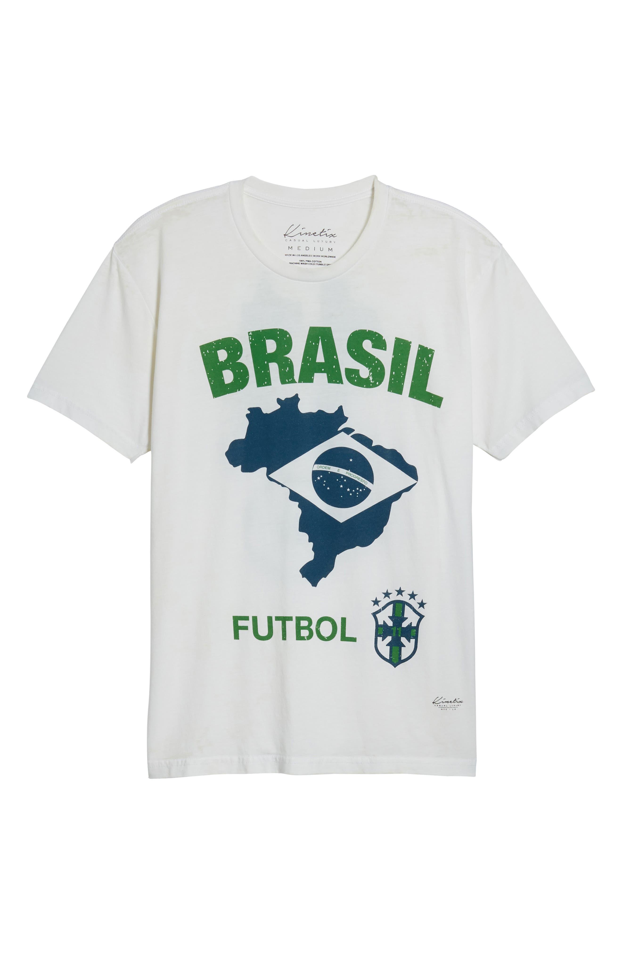 Brasil Futbol T-Shirt,                             Alternate thumbnail 6, color,                             White