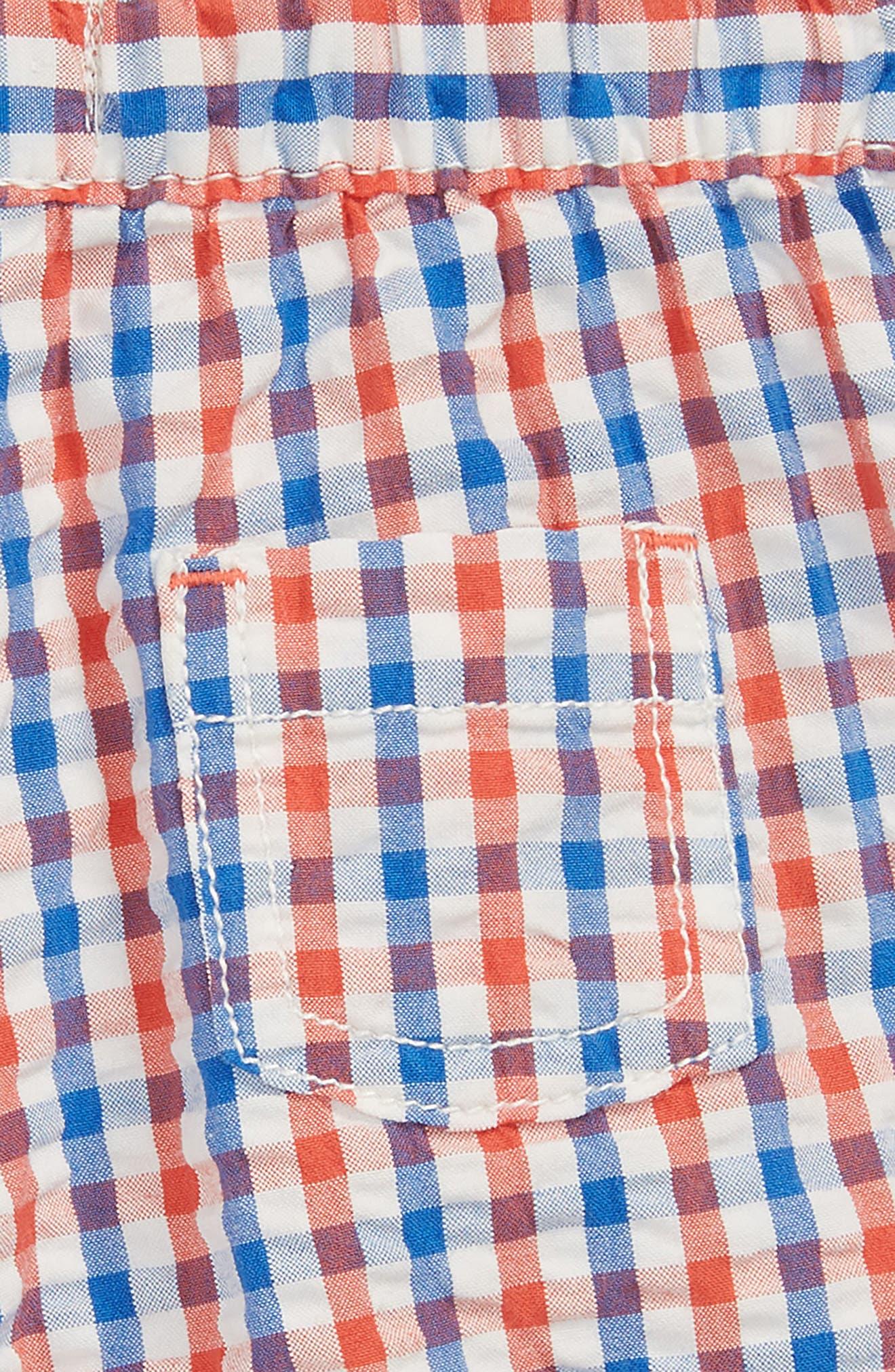 Explorer Gingham Shorts,                             Alternate thumbnail 2, color,                             Soft Red/ Skipper Blue Check