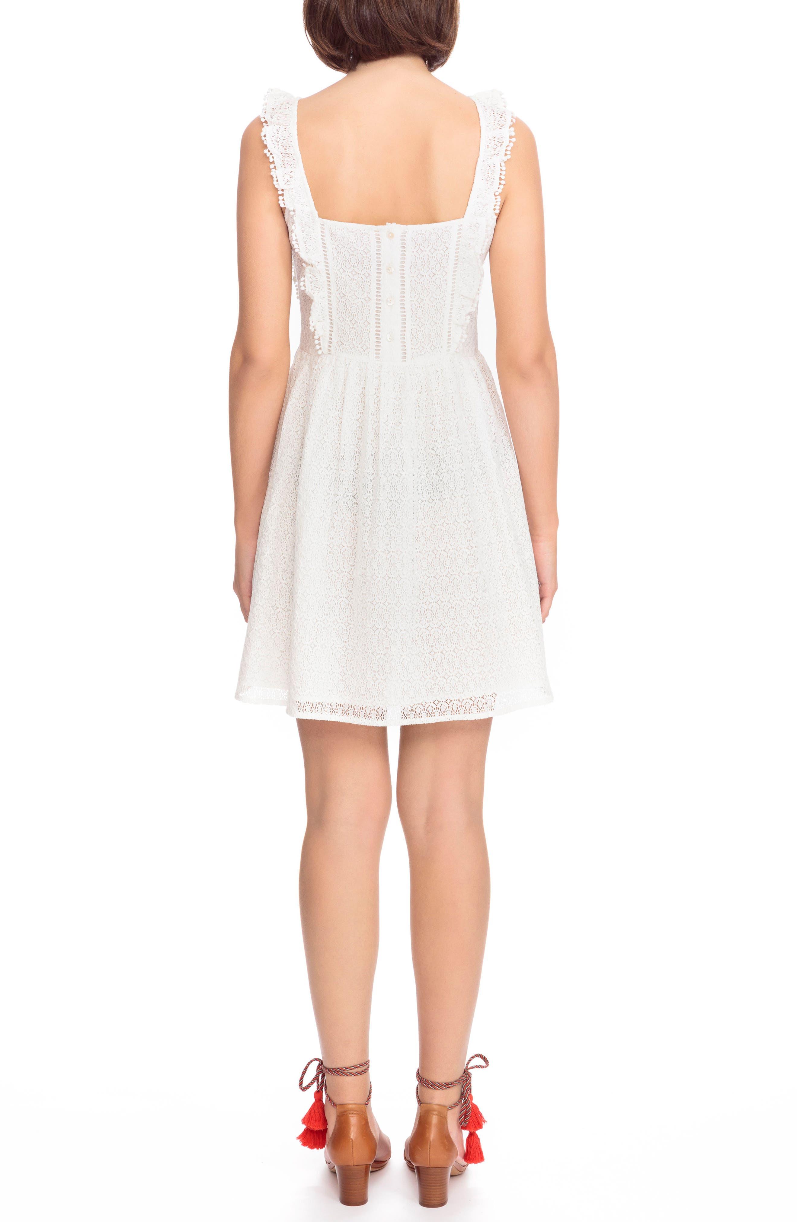 Calie Lace A-Line Dress,                             Alternate thumbnail 2, color,                             Off White