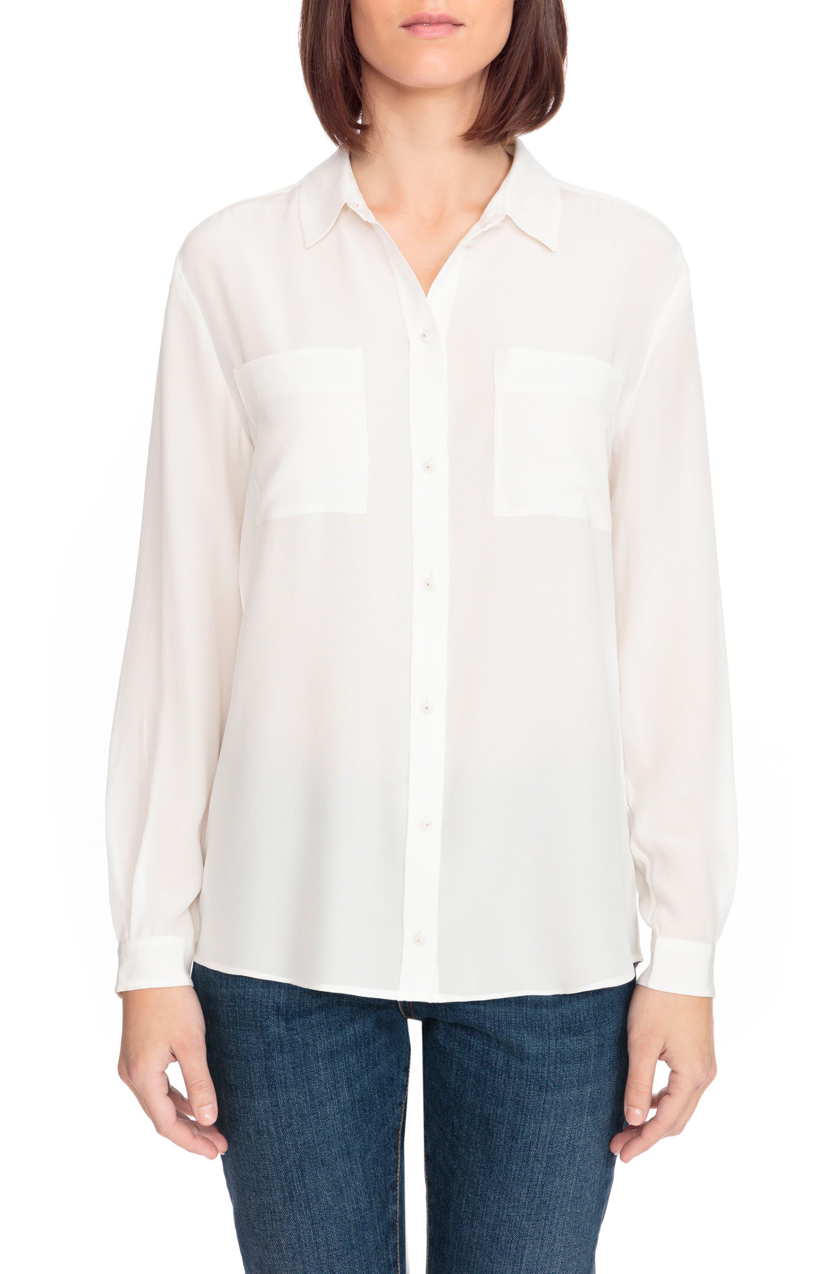 Sézane Boy Silk Shirt