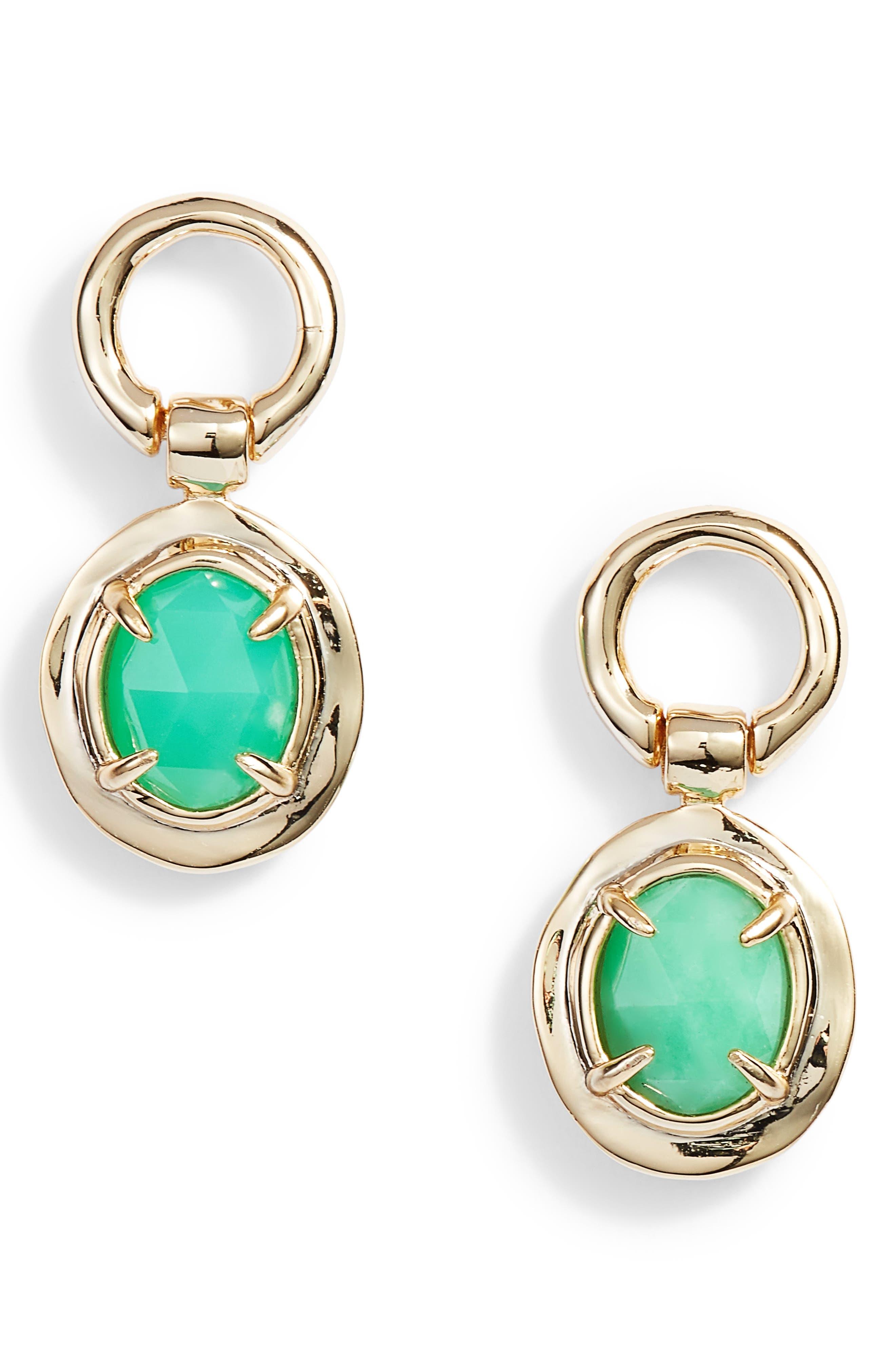 Swinging Stone Drop Earrings,                             Main thumbnail 1, color,                             Gold