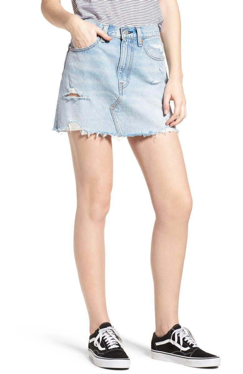 Deconstructed Denim Skirt