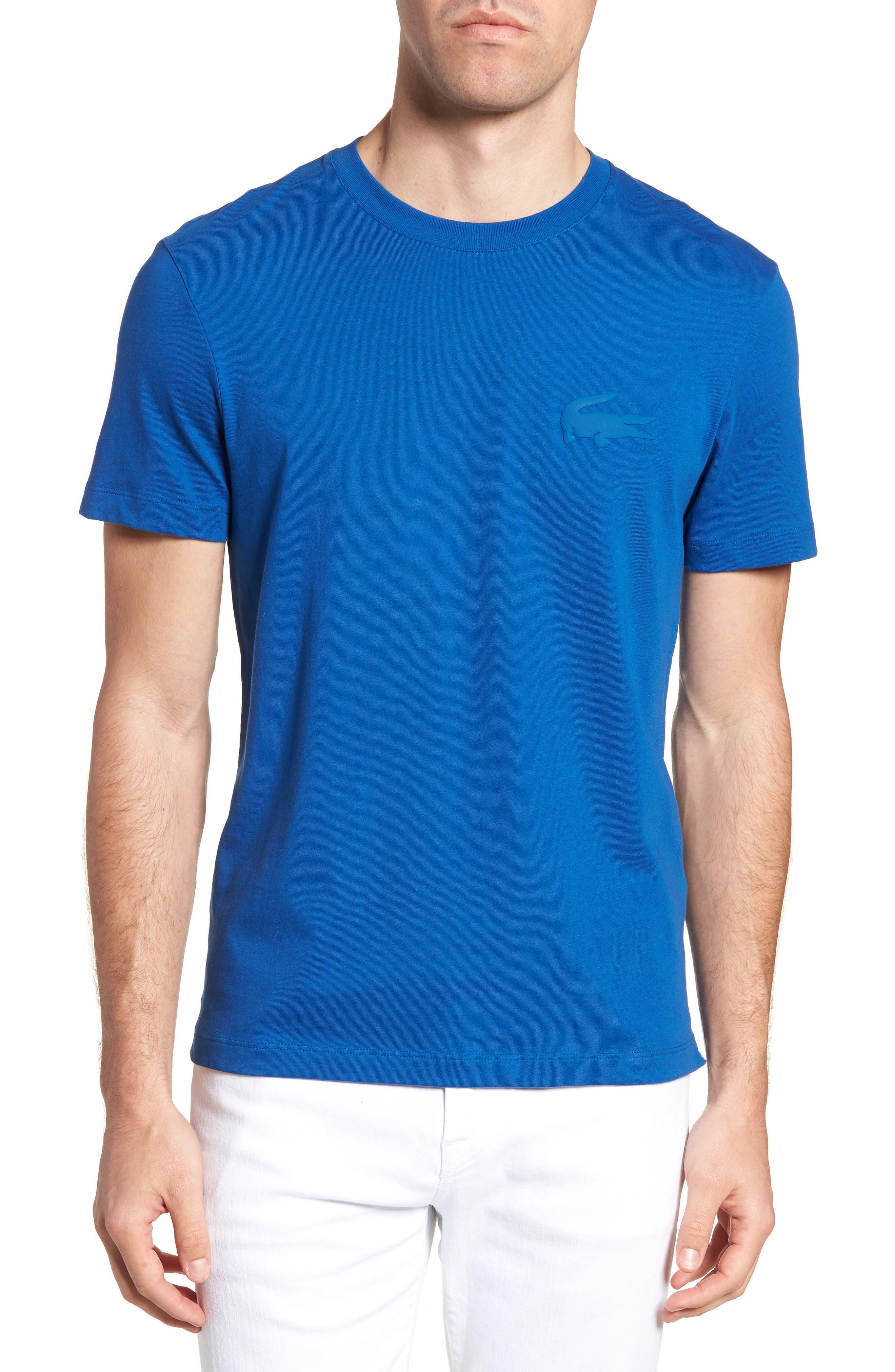 Crewneck T-Shirt,                         Main,                         color, Electric/ Marino