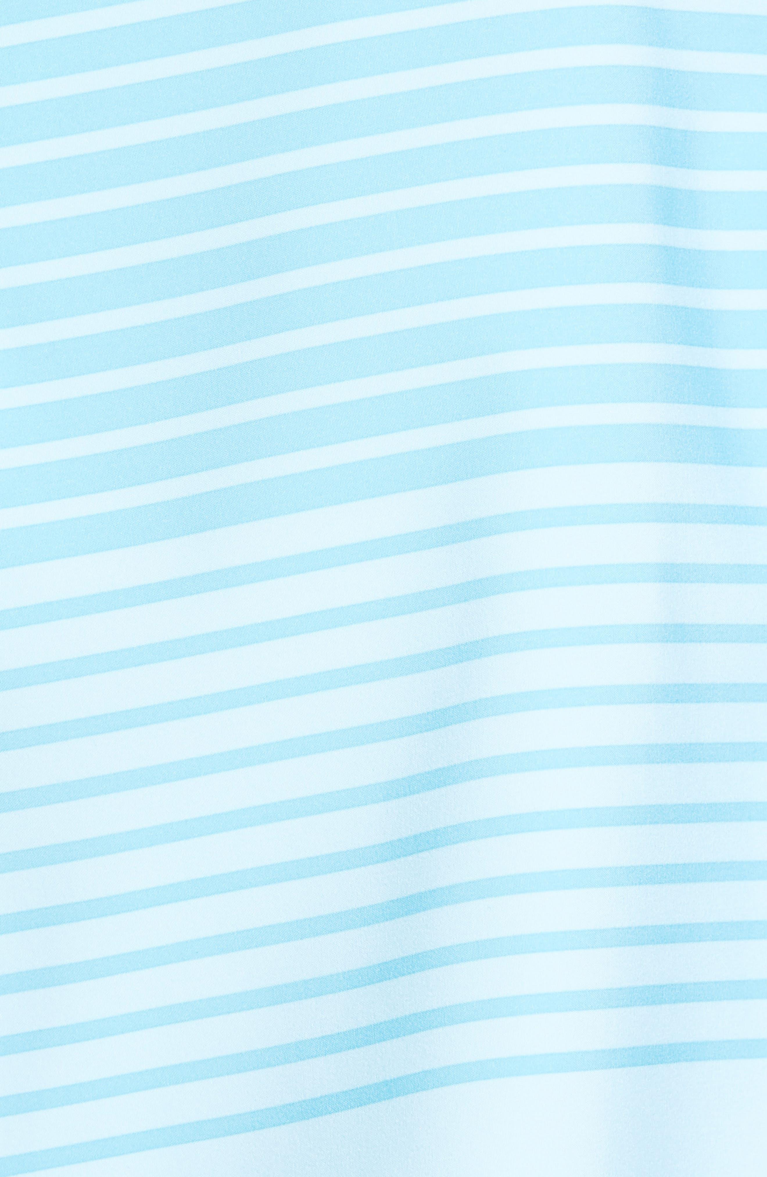 Sculplin Stripe Tech Board Shorts,                             Alternate thumbnail 5, color,                             Turquoise