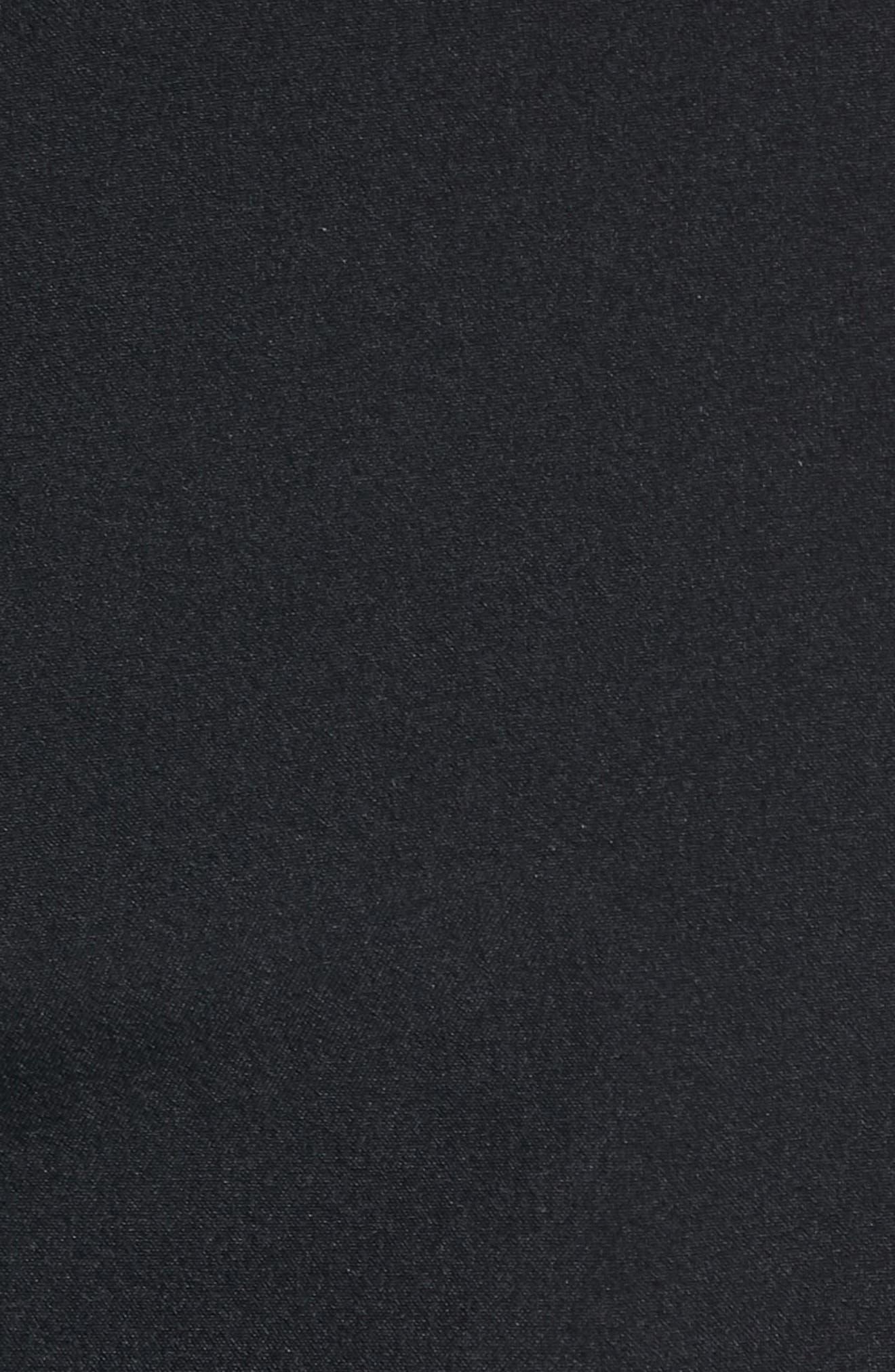 'Eastern' Scalloped Hem Board Shorts,                             Alternate thumbnail 5, color,                             All Black