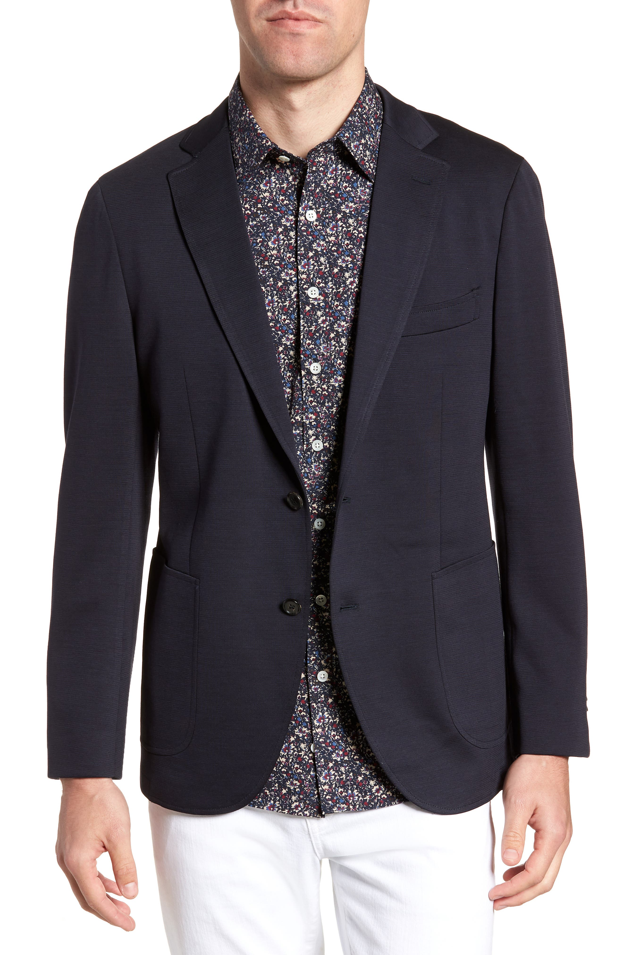 Cardrona Slim Fit Wool Blend Blazer,                             Main thumbnail 1, color,                             Navy