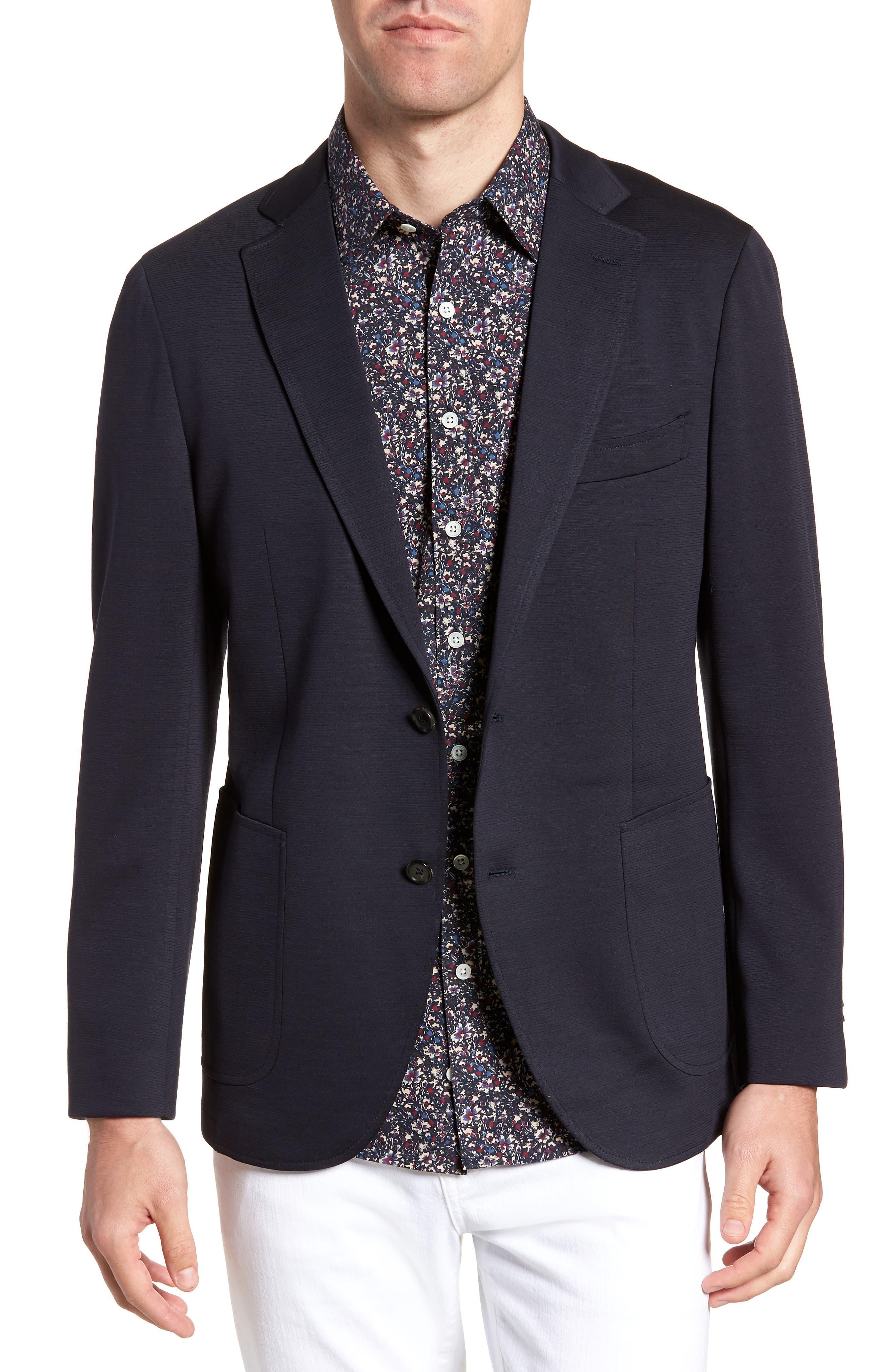 Cardrona Slim Fit Wool Blend Blazer,                         Main,                         color, Navy