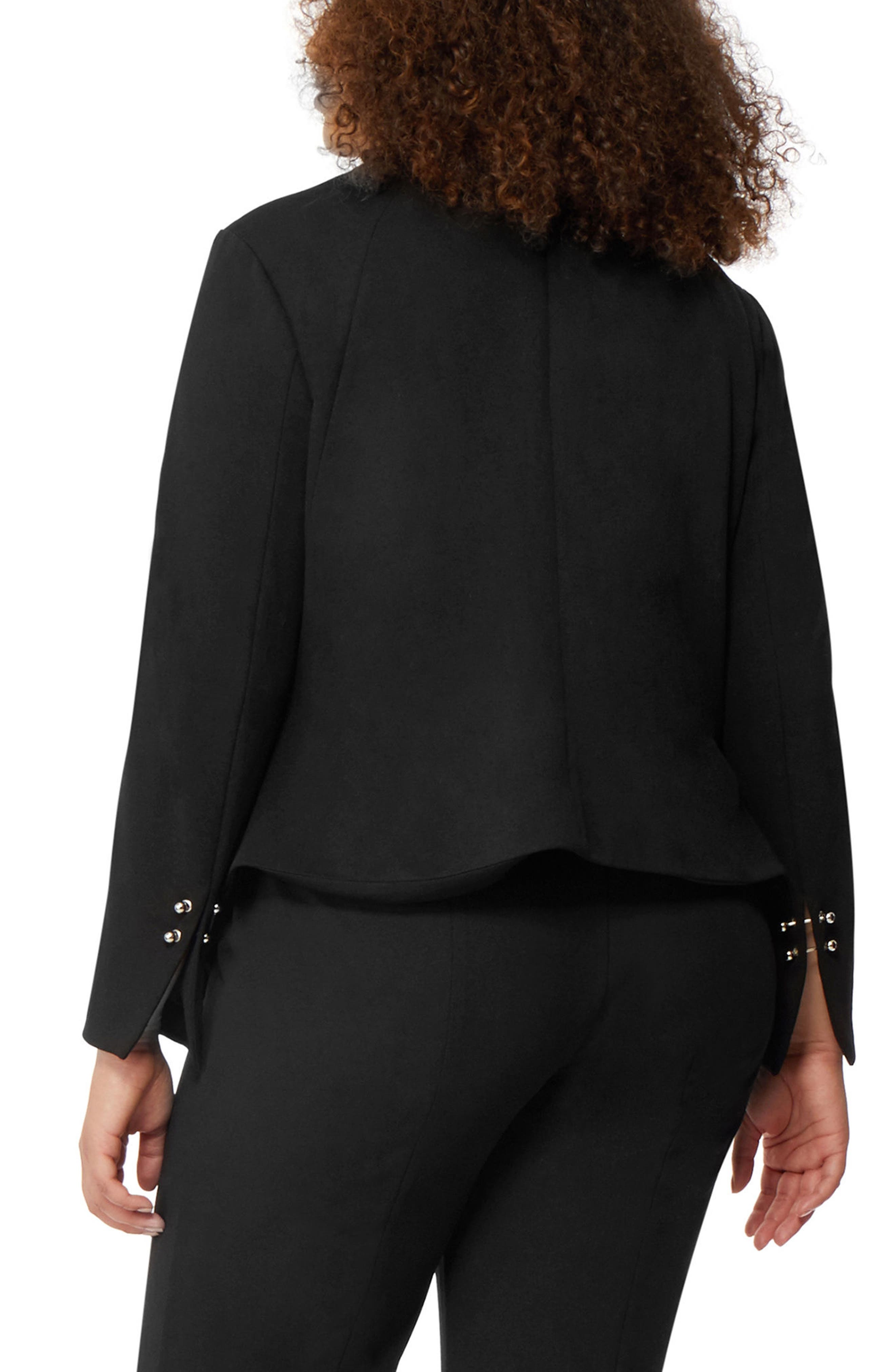 Open Front Blazer,                             Alternate thumbnail 2, color,                             Black